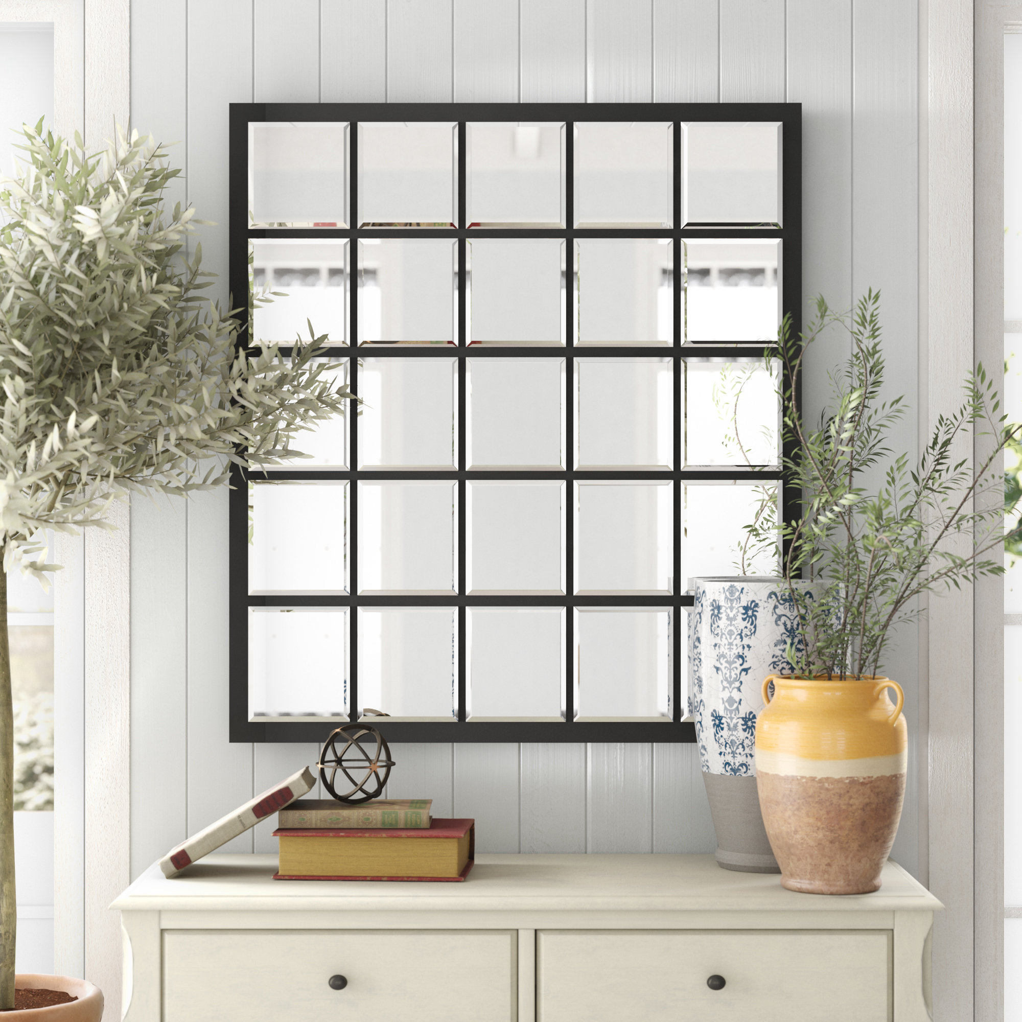 Recent Grid Accent Mirrors With Birch Lane™ Heritage Austin Industrial Accent Mirror & Reviews (Gallery 20 of 20)