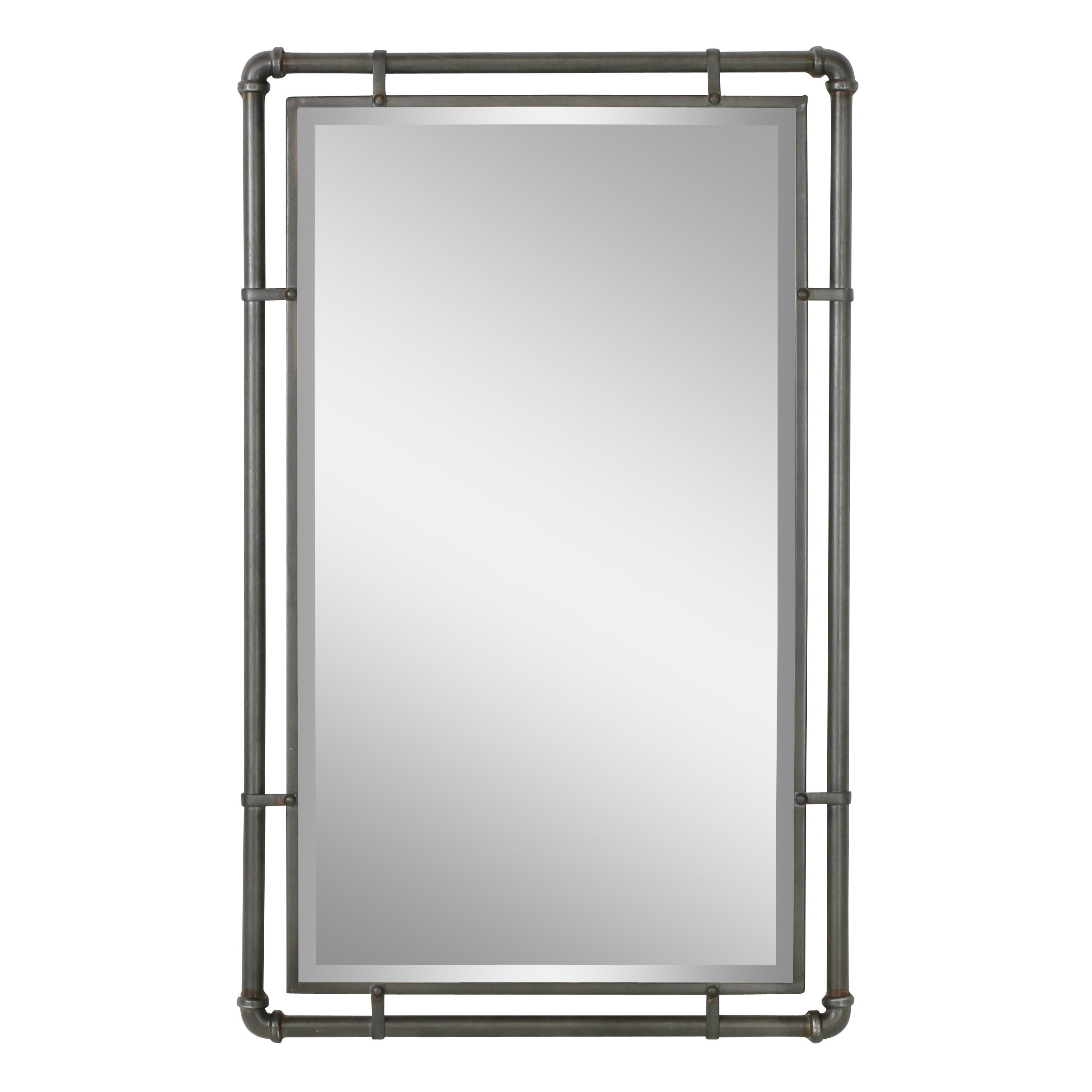 Recent Koeller Industrial Metal Wall Mirror Regarding Industrial Wall Mirrors (View 19 of 20)