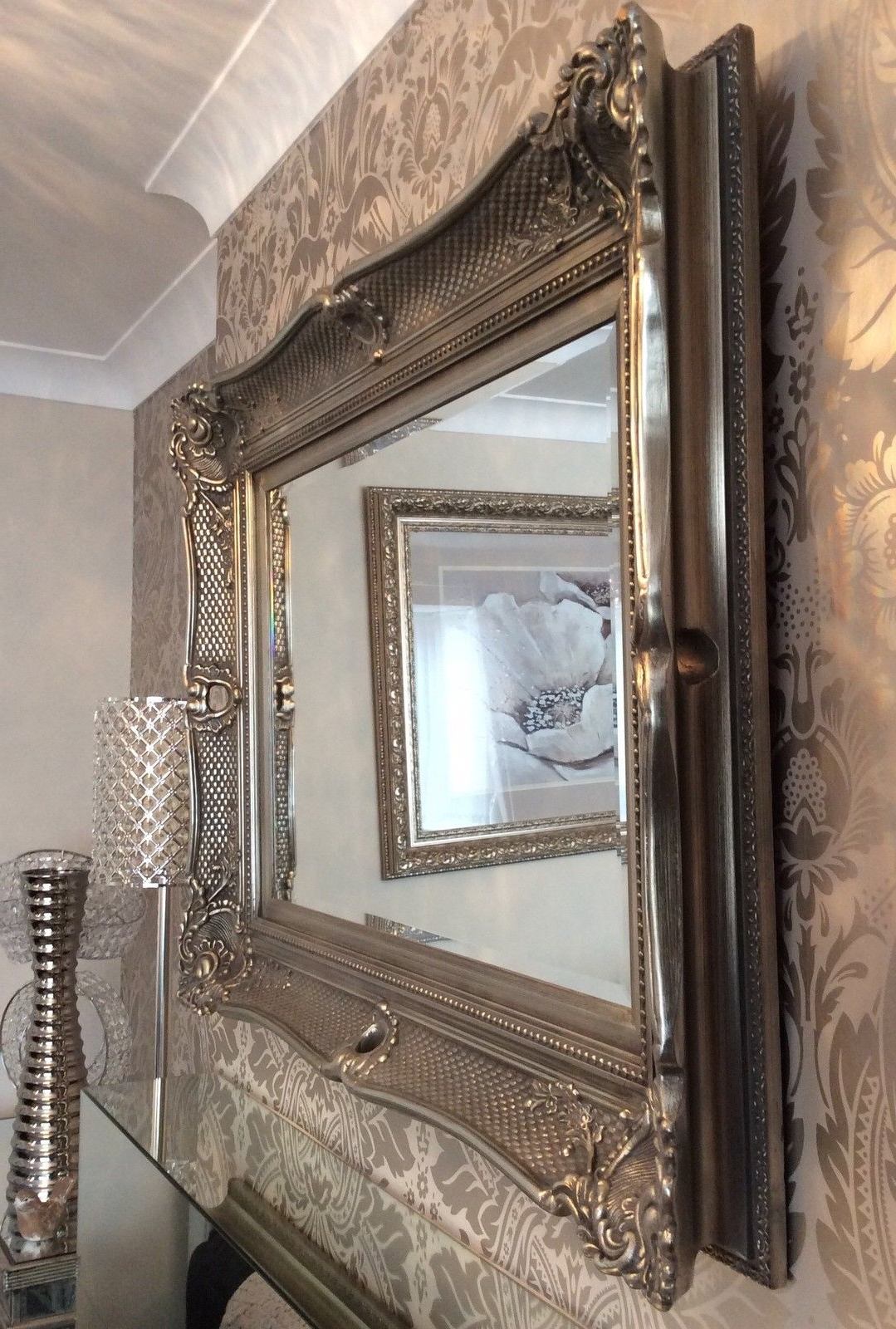 Recent Large Ornate Wall Mirrors Within Wonderful Ornate Fabulous Extra Large Wall Mirror – Range Of Sizes – Save ££S (Gallery 10 of 20)