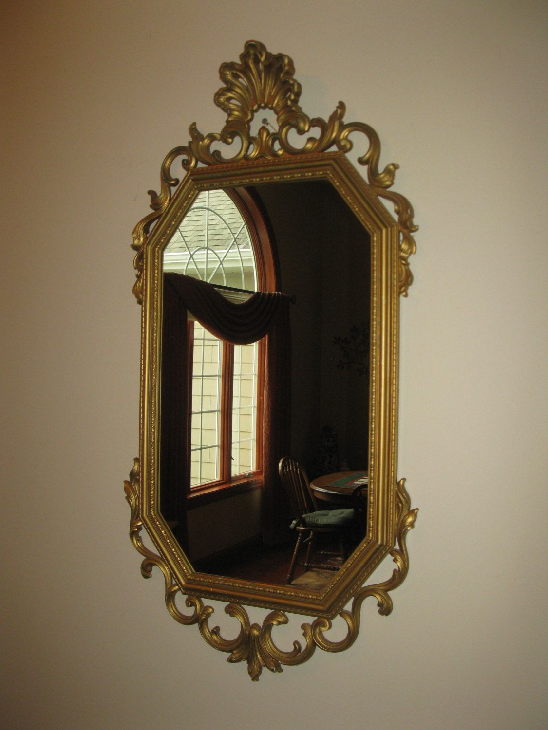 Recent Large Plastic Wall Mirrors For Large Ornate Syroco Wall Mirror Octagon Plastic Resin (View 9 of 20)