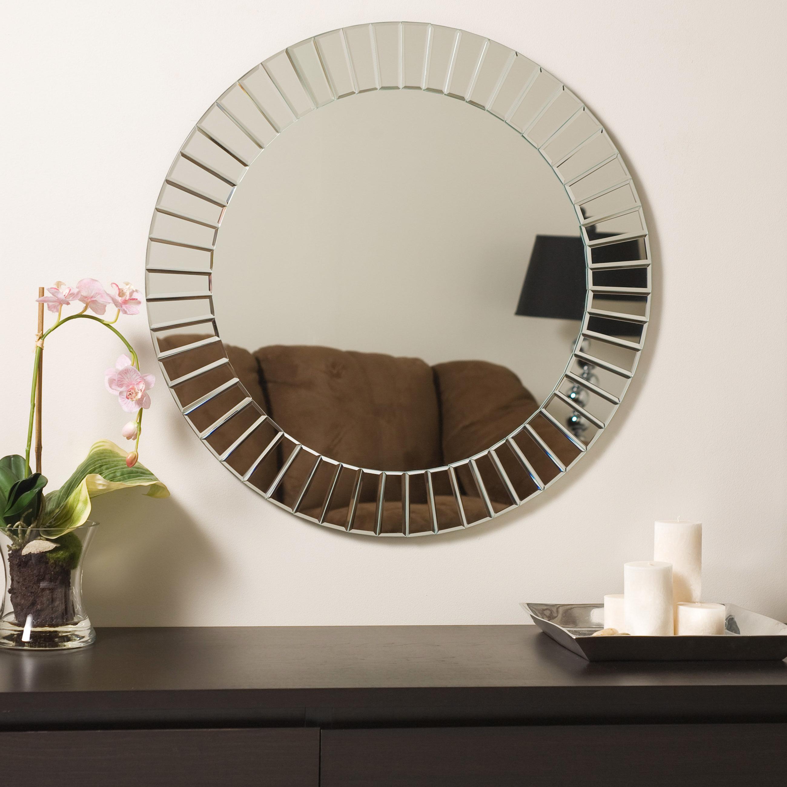 Recent Lidya Frameless Beveled Wall Mirrors Intended For Lidya Frameless Beveled Wall Mirror (View 15 of 20)