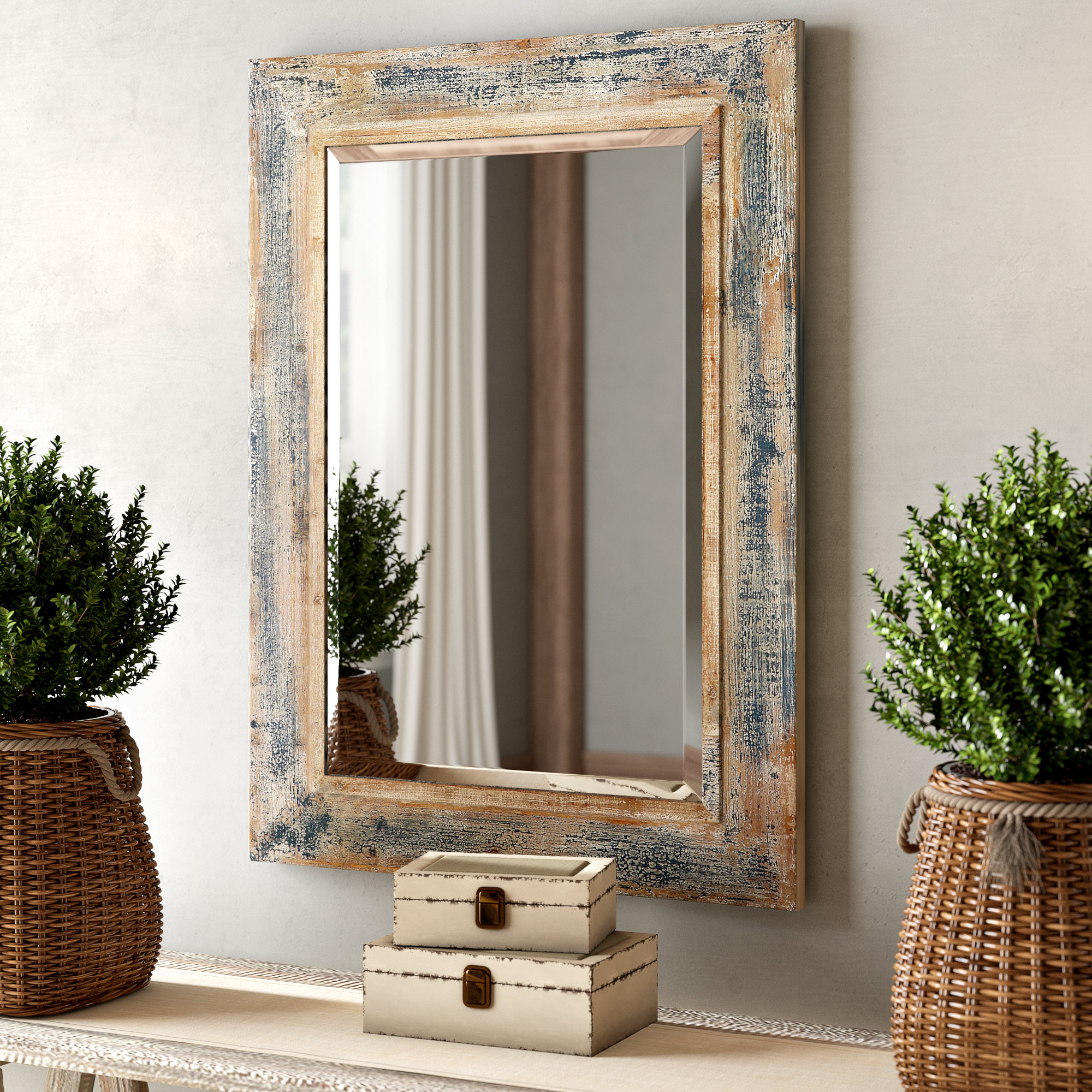 Recent Long Rectangular Wall Mirrors For Janie Rectangular Wall Mirror (Gallery 8 of 20)