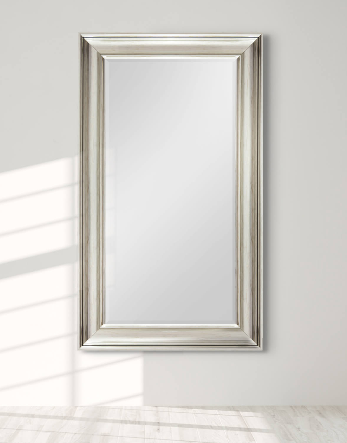 Recent Luxe Silver 77X138Cm Long Wall Mirror In Long Silver Wall Mirrors (Gallery 11 of 20)