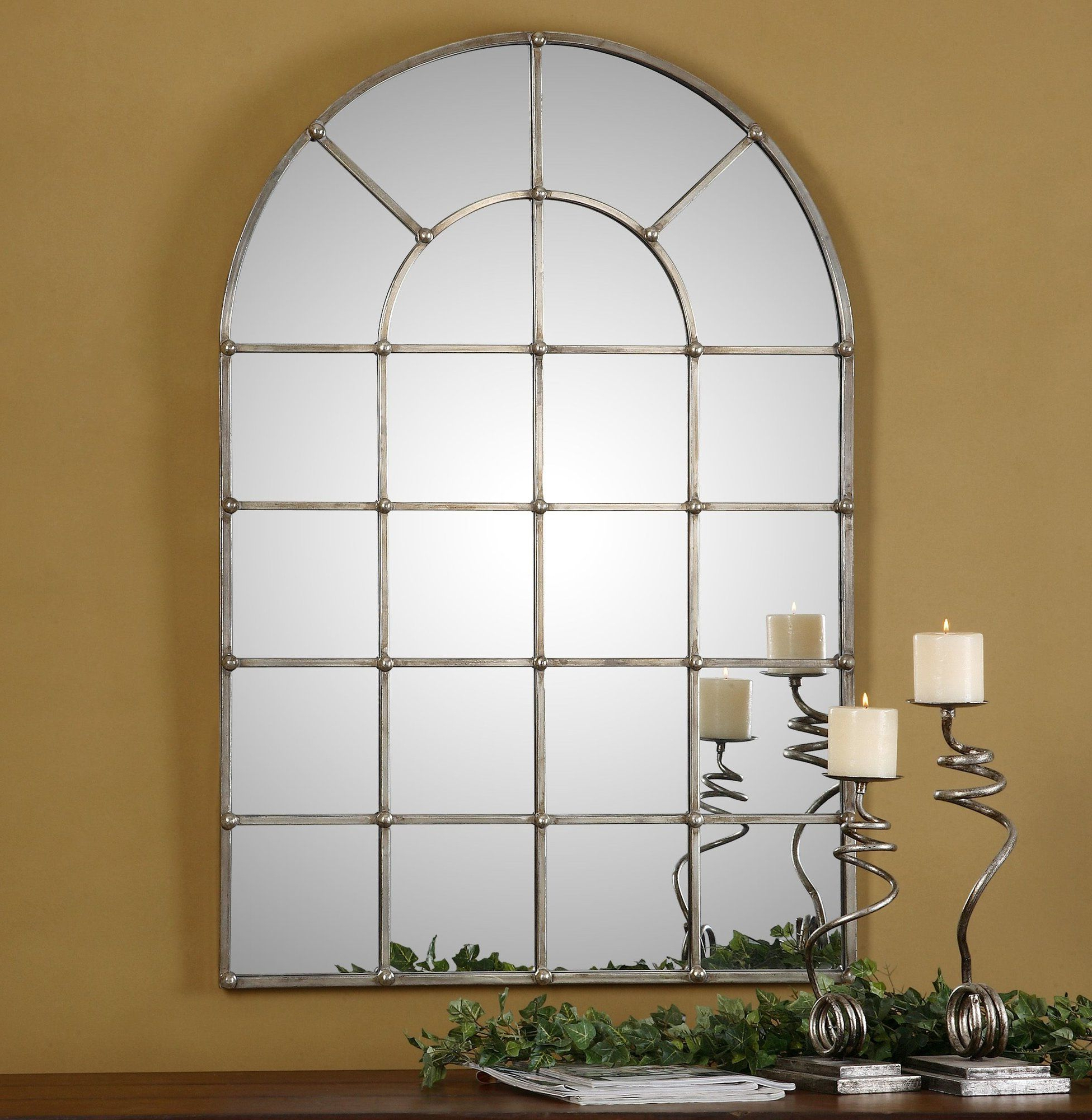 Recent Metal Arch Window Wall Mirror (Gallery 8 of 20)