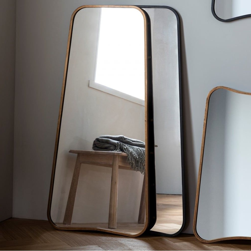 Recent Modern Full Length Wall Mirrors Intended For Inca Contemporary Full Length Leaner Mirror, Gold In  (View 17 of 20)
