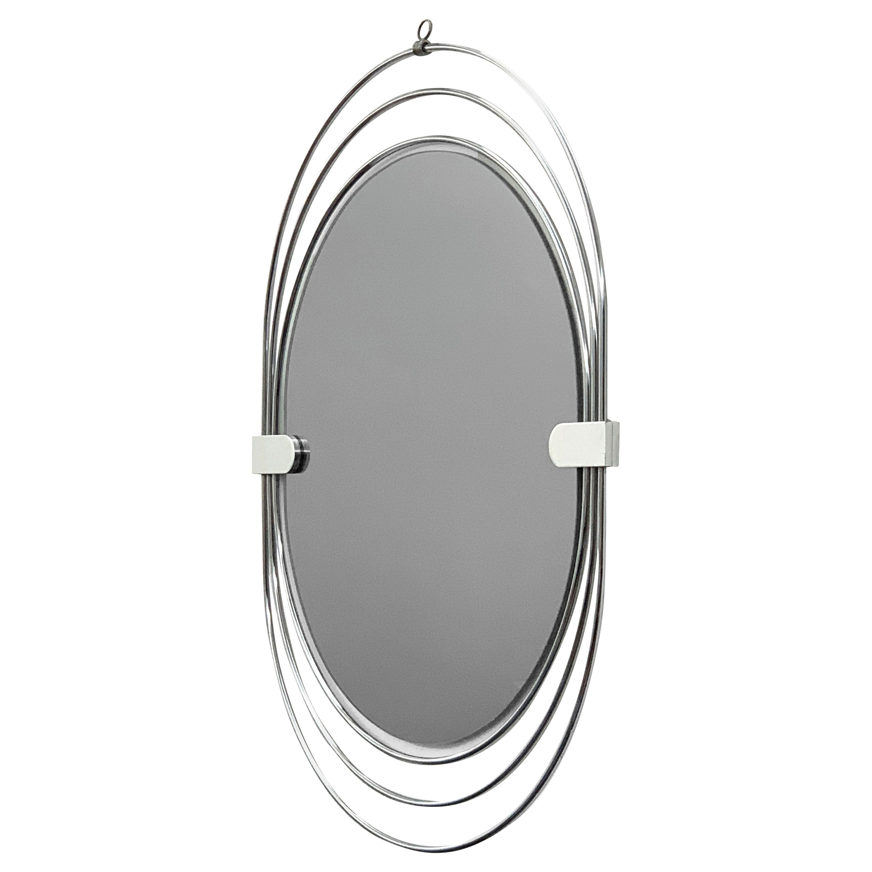 Recent Oval Wall Mirror In Stainless Steel, Triple Frame, Smoked Mirror, Italy,  1970S With Triple Oval Wall Mirrors (View 18 of 20)
