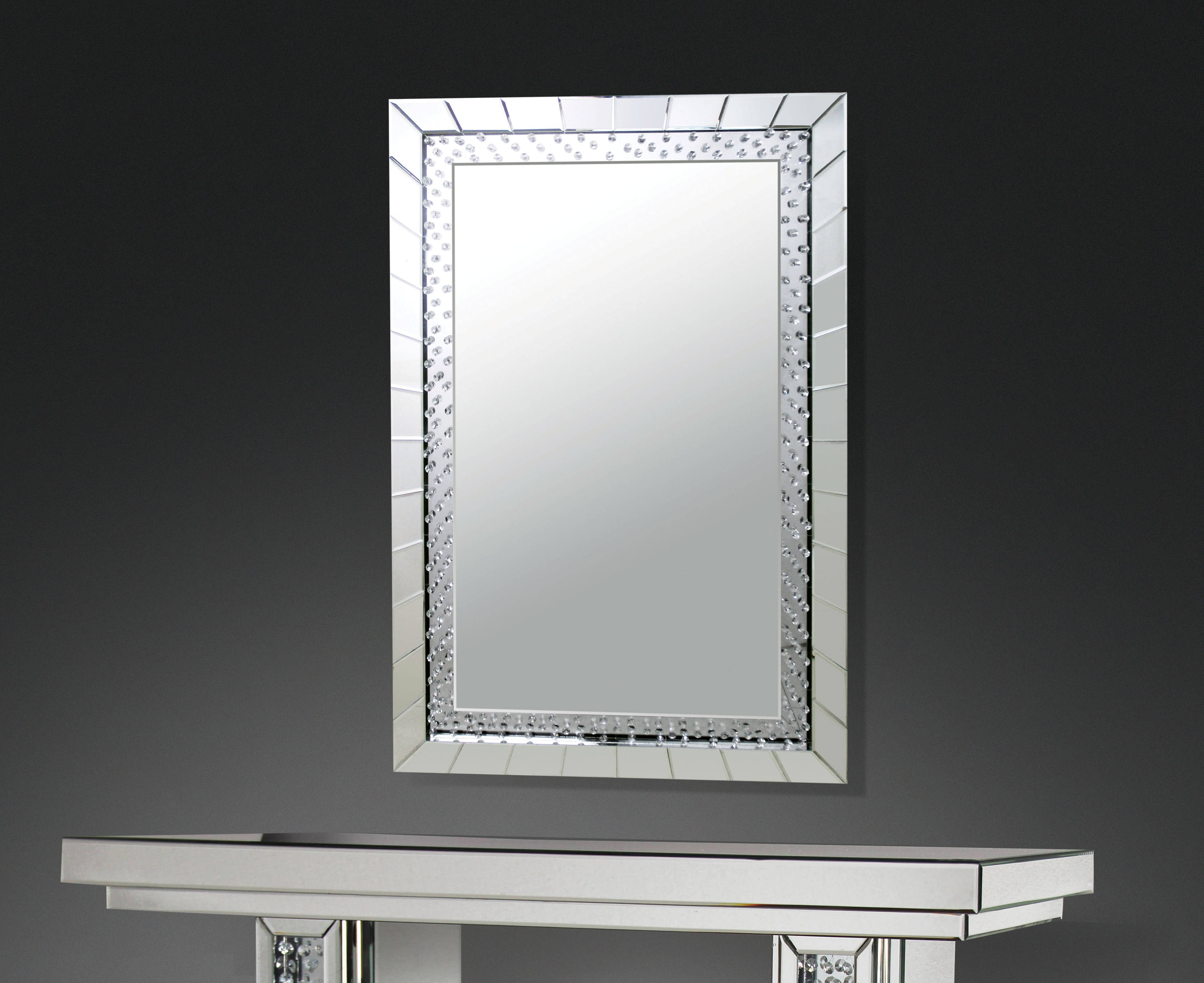 Recent Rectangle Accent Wall Mirrors Within Acme Furniture Nysa Rectangle Accent Wall Mirror (View 9 of 20)