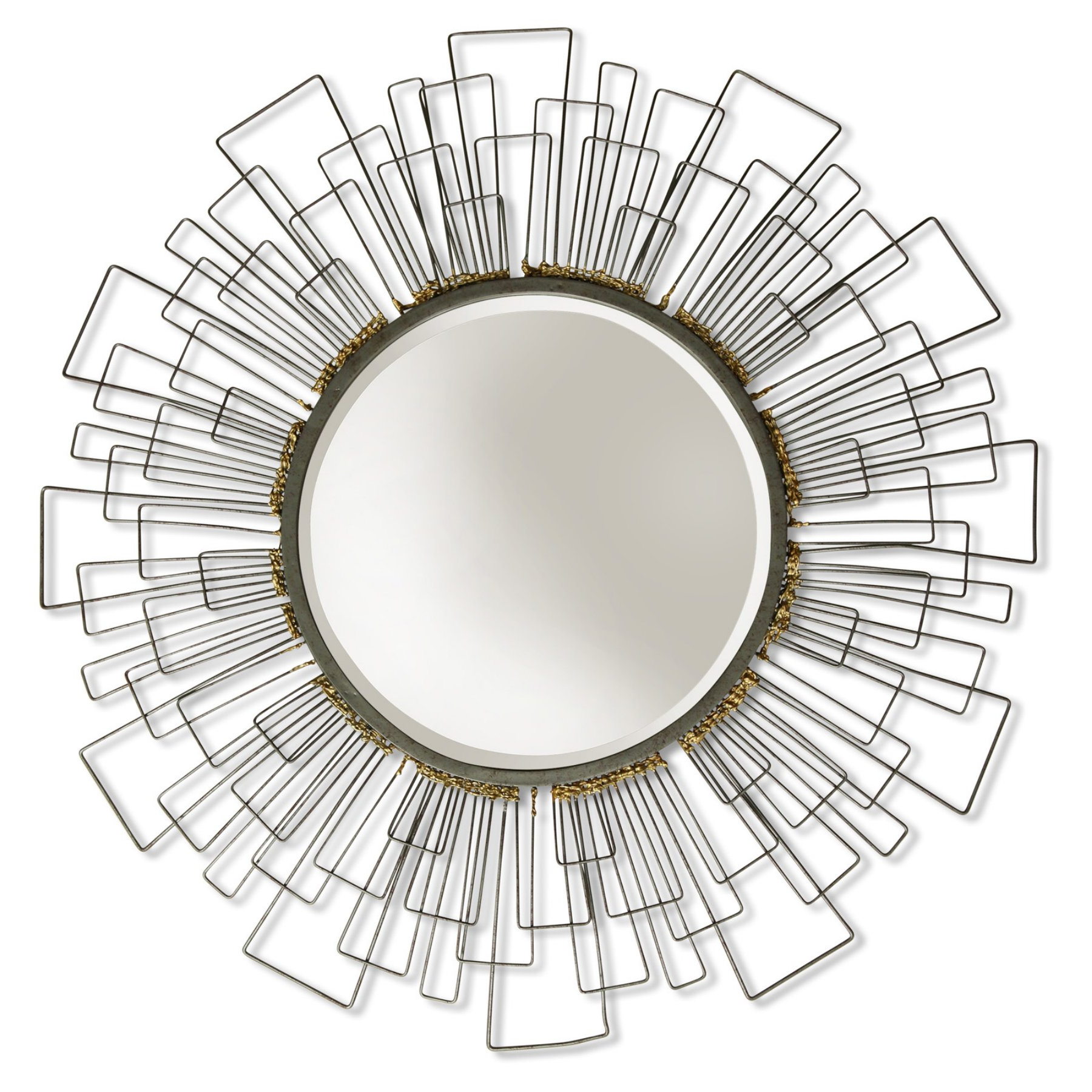 Recent Round Beveled Wall Mirrors Within Stylecraft Wired Metal Frame Round Beveled Wall Mirror – (View 20 of 20)