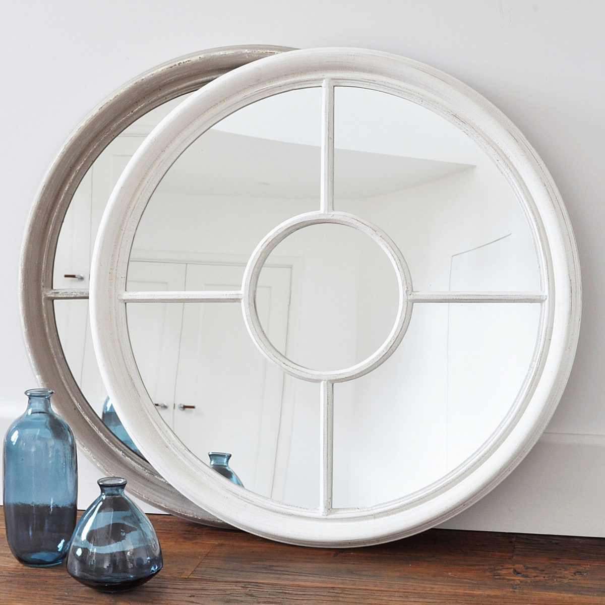 Recent Round Porthole Wall Mirror – Grey Or Antique White Throughout Porthole Wall Mirrors (View 7 of 20)