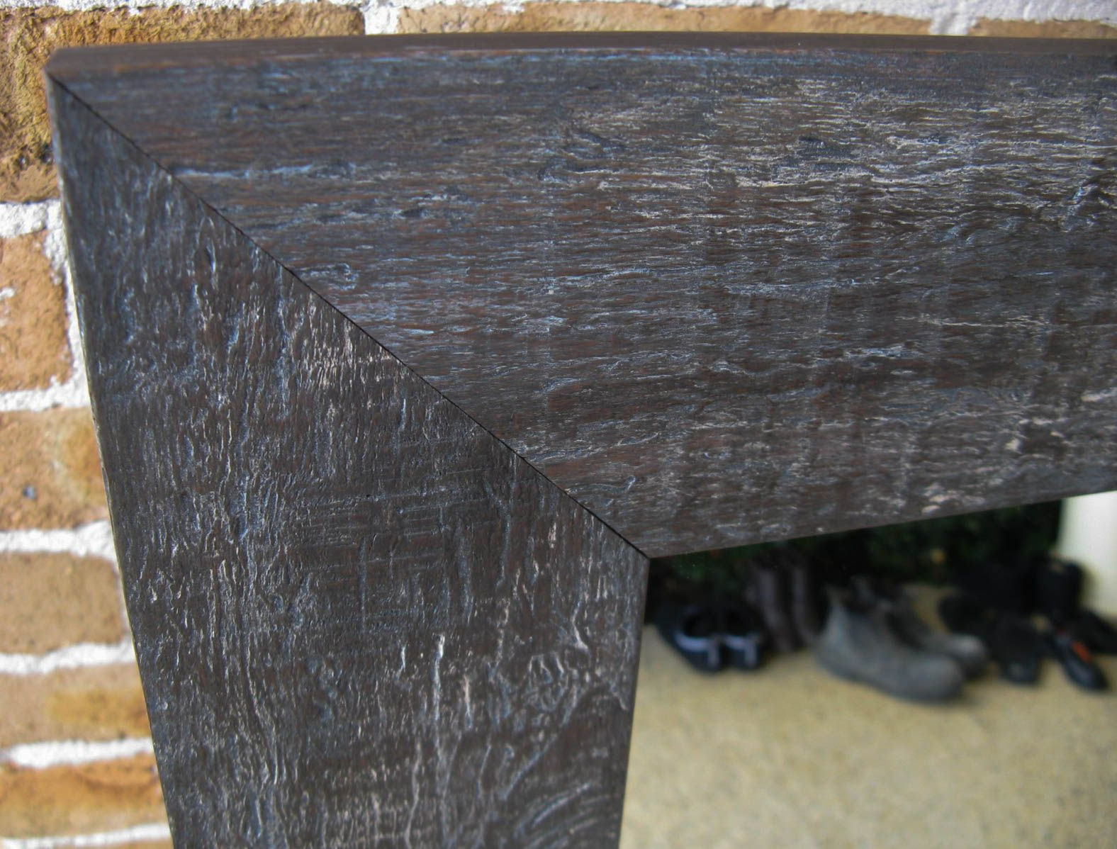 Recent Rustic Charcoal Timber Framed Wall Mirror (View 17 of 20)