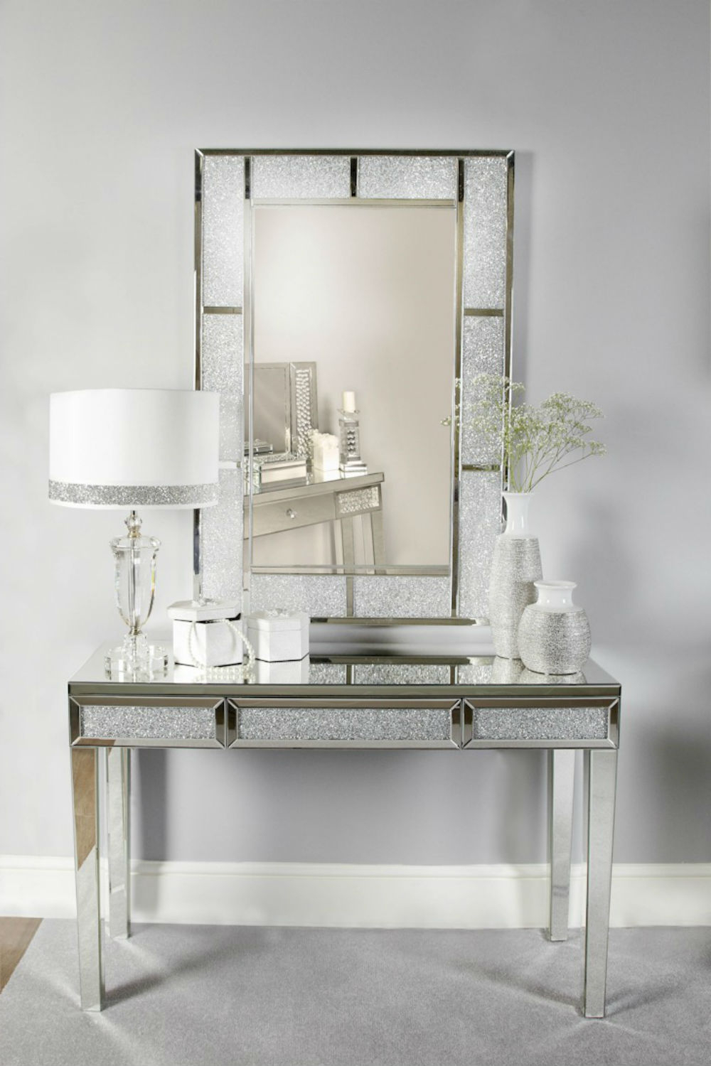 Recent Sparkle Wall Mirrors Pertaining To Milo Sparkle Crystal Wall Mirror (Gallery 16 of 20)