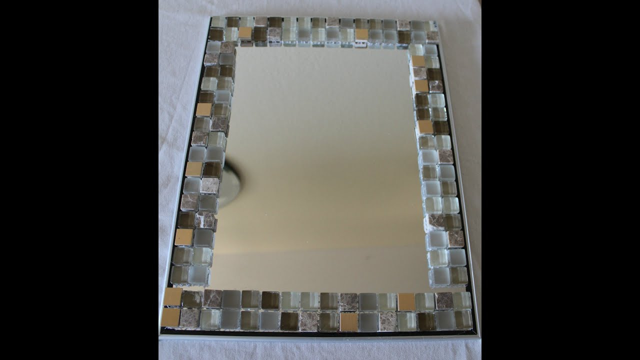 Recent Stick On Wall Mirror Tiles With Diy Home Decor – Glass Tile Mirror Frame – Yolanda Soto Lopez (View 15 of 20)