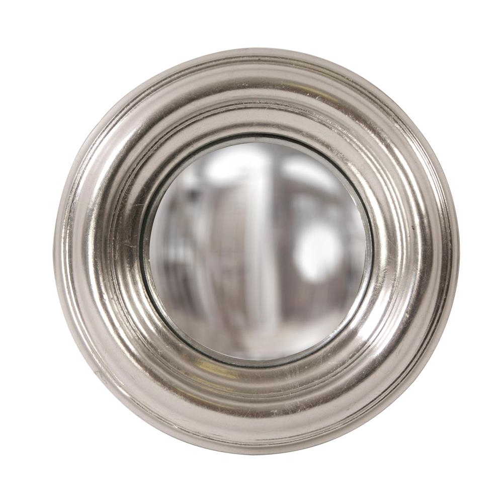 Recent Sylvia Round Silver Convex Mirror 56174 – The Home Depot Throughout Round Convex Wall Mirrors (View 14 of 20)