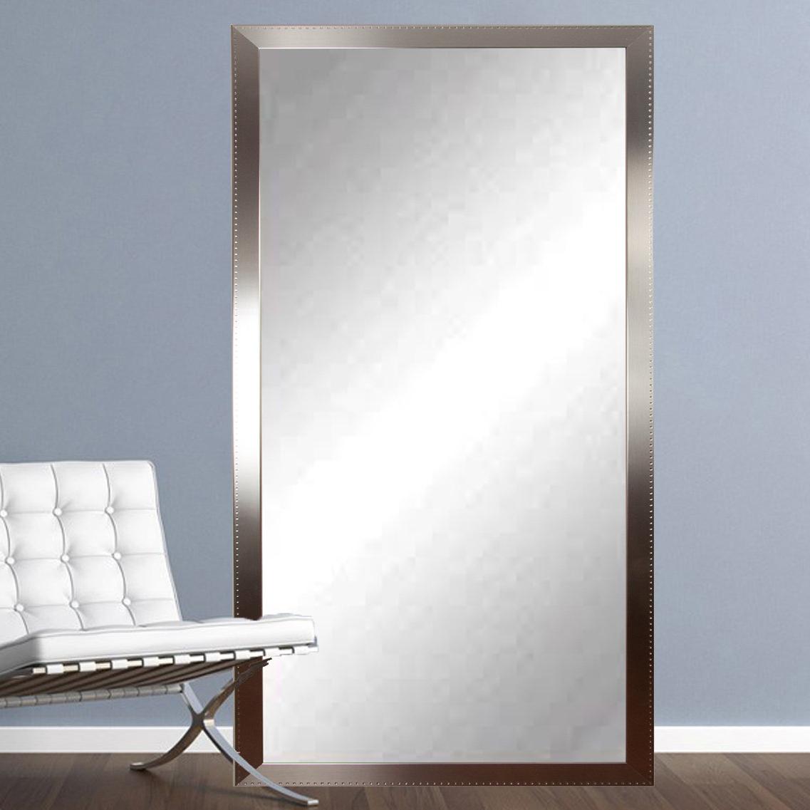 Recent Tall Wall Mirrors Regarding Woodruff Steel Chic Tall Vanity Wall Mirror (View 9 of 20)