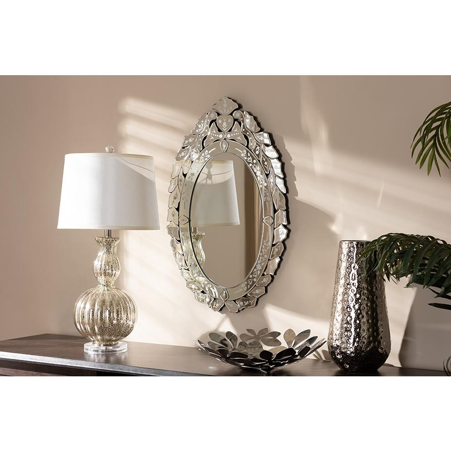 Recent Traditional Accent Mirrors In Livia Classic And Traditional Silver Finished Venetian Style Accent Wall Mirrorbaxton Studio (View 11 of 20)
