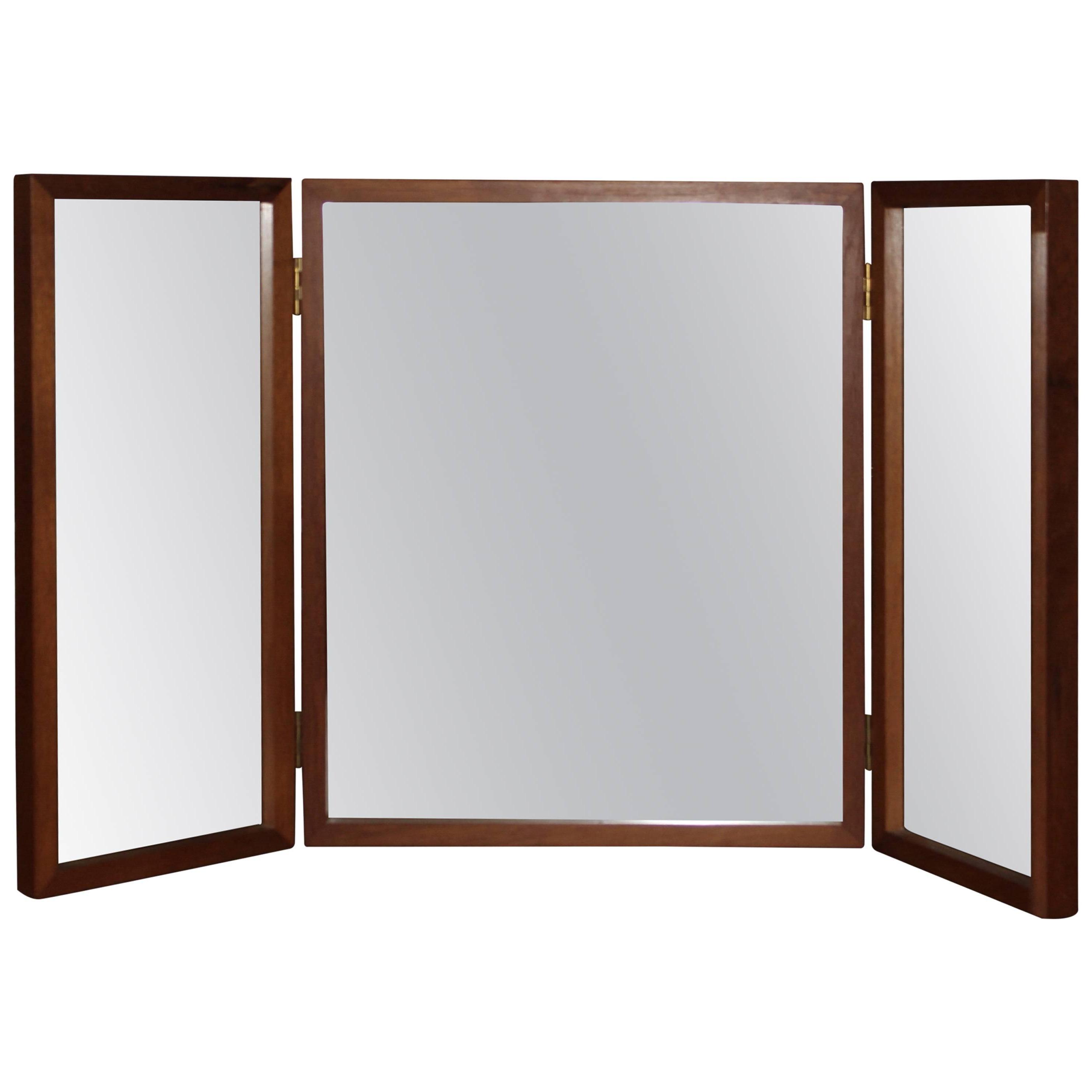 Recent Tri Fold Wall Mirrors Inside Teak Tri Fold Vanity, Dresser Or Wall Mirroraksel Kjersgaard (View 6 of 20)