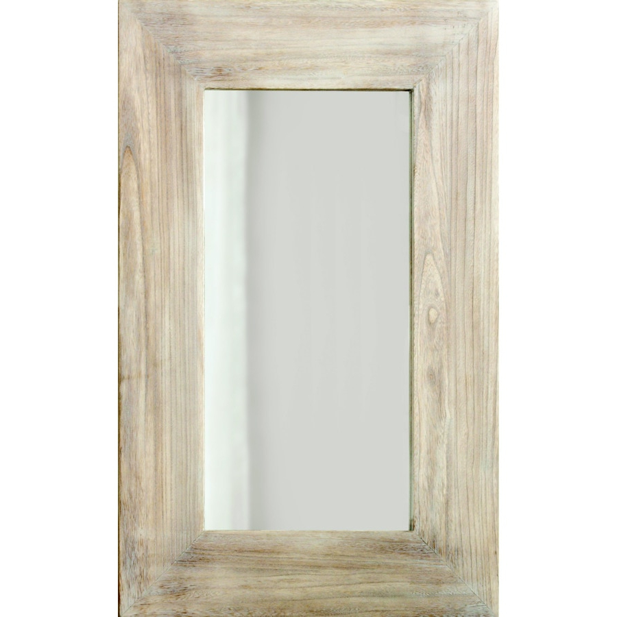 Recent White Frame Wall Mirrors In Columbia Frame White Wash Rectangle Framed Wall Mirror At (View 17 of 20)