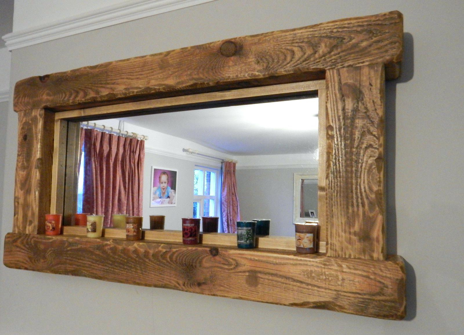 Reclaimed Wood Wall Mirror Frames Round Decoration Wildlife Throughout Most Up To Date Rustic Wood Wall Mirrors (View 16 of 20)