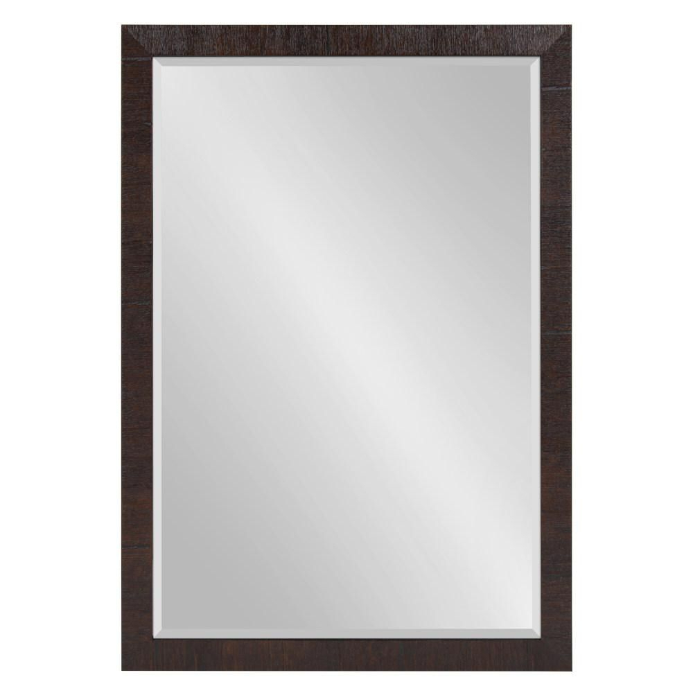 Rectangle Accent Mirrors Regarding Most Popular Kate And Laurel Sierra Rectangle Brown Accent Mirror In (View 12 of 20)