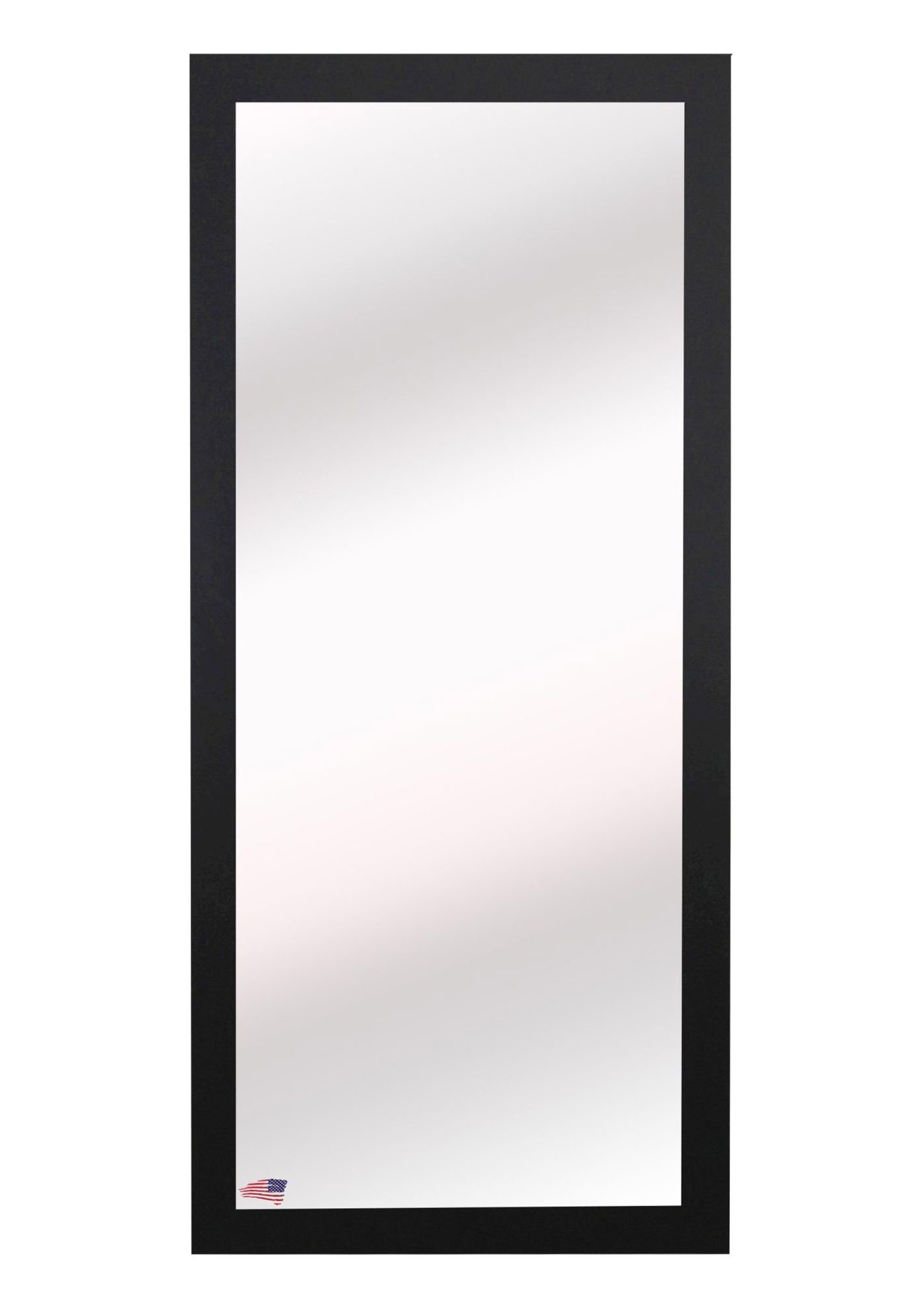 Rectangle Black Full Length Wall Mirror Throughout Most Current White Full Length Wall Mirrors (View 19 of 20)