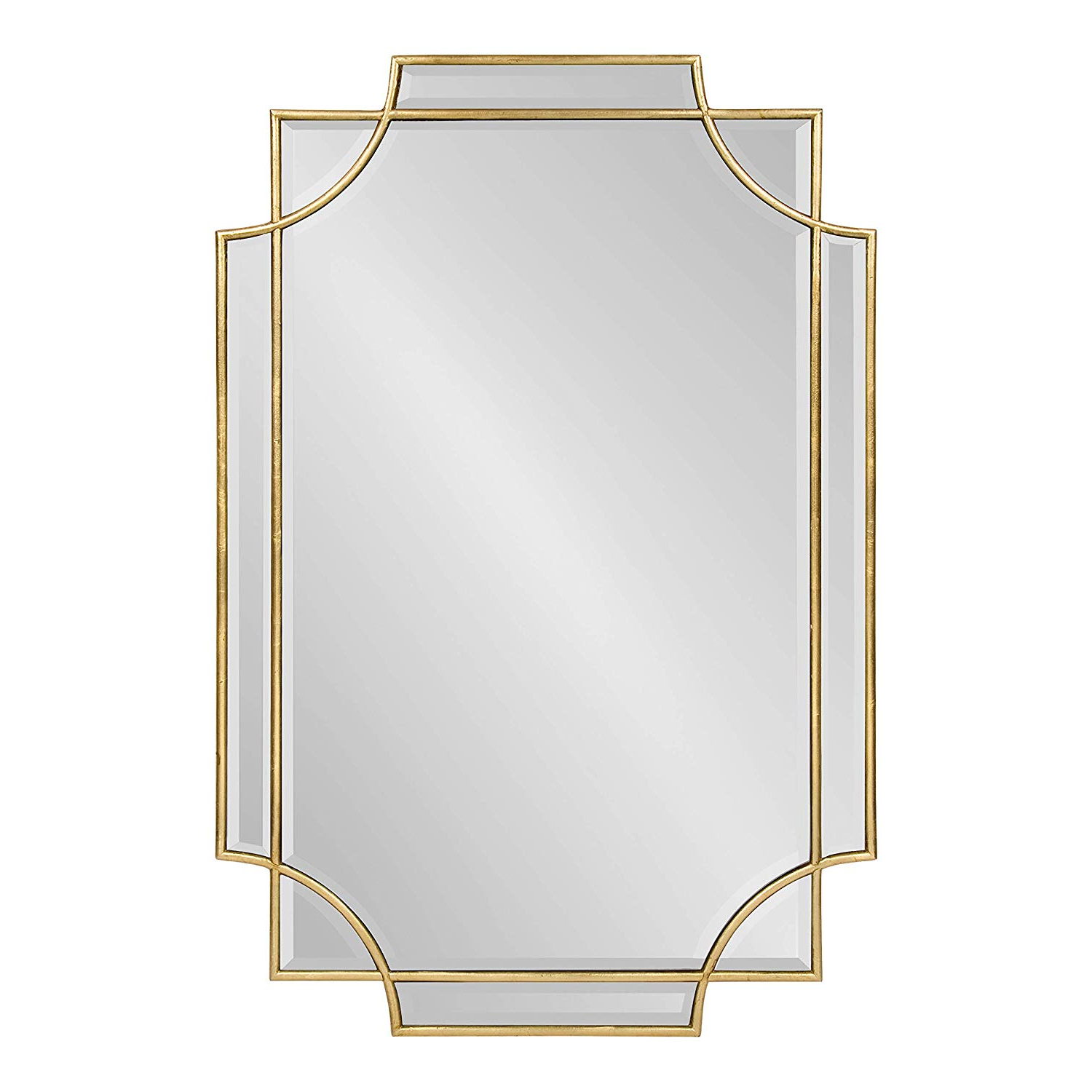 Rectangle Ornate Geometric Wall Mirrors With Best And Newest Kate And Laurel Minuette Decorative Rectangle Frame Wall Mirror In Gold Leaf, 24x (View 7 of 20)