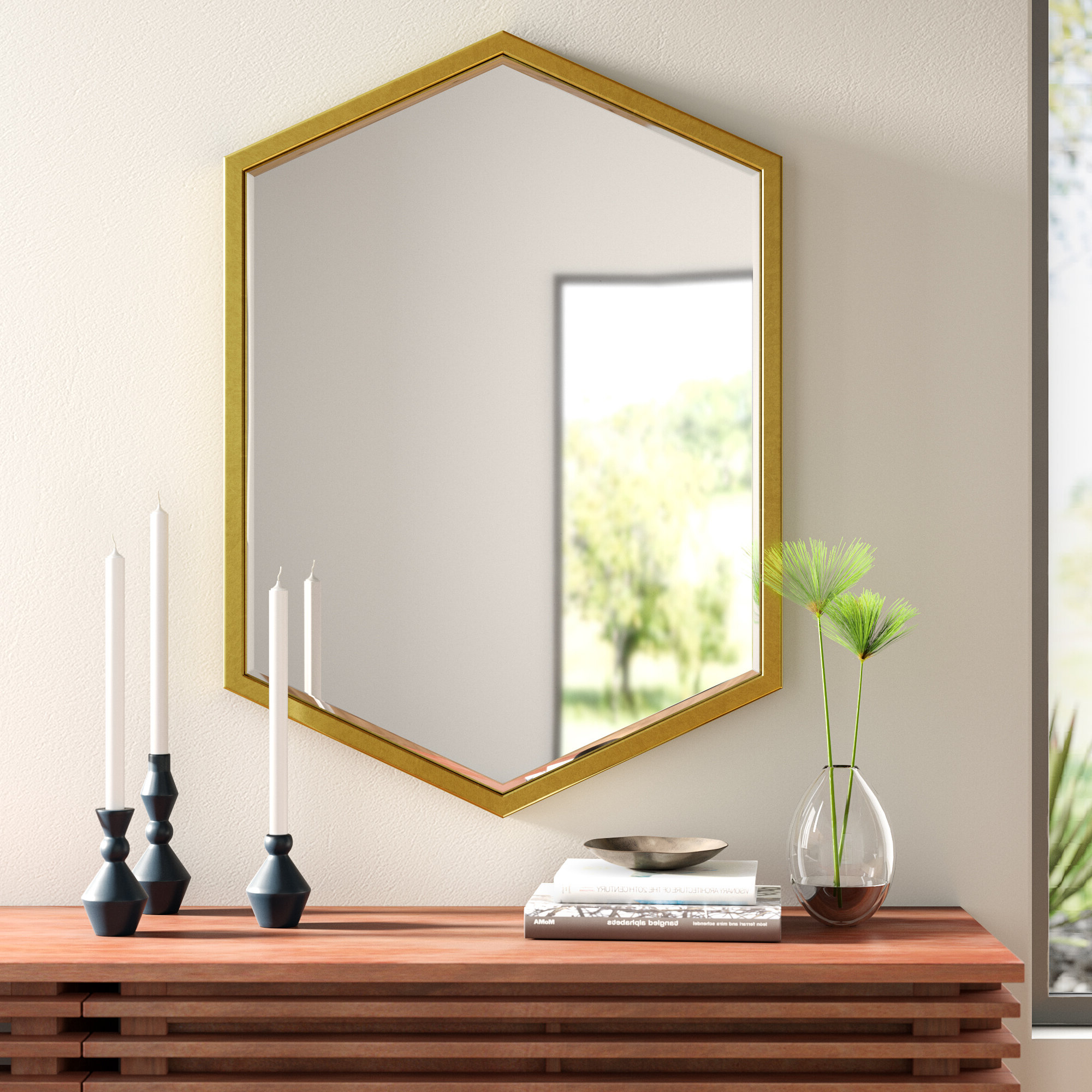 Rectangle Ornate Geometric Wall Mirrors With Favorite Modern & Contemporary Diamond Wall Mirror (View 19 of 20)