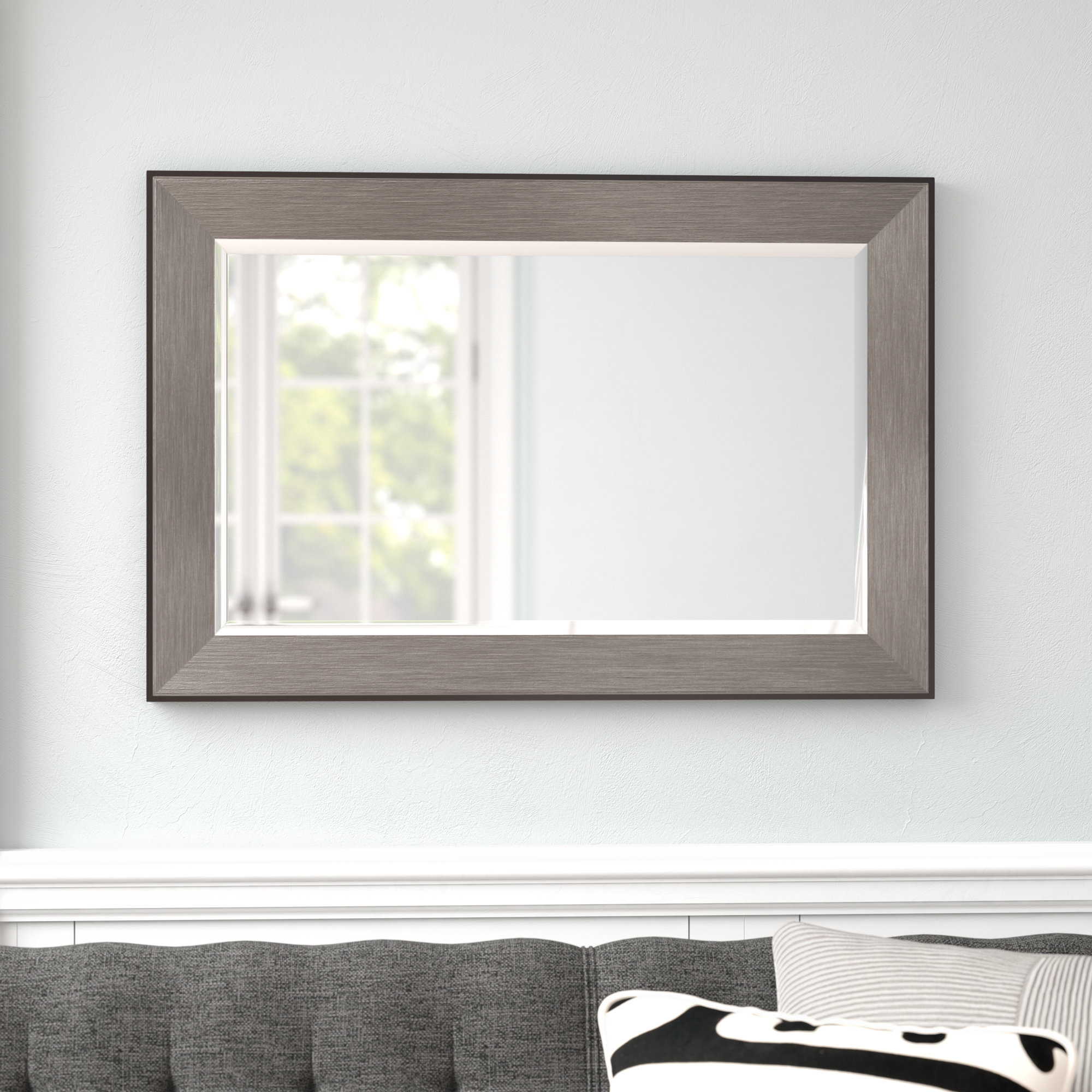 Rectangle Pewter Beveled Wall Mirror With Regard To Best And Newest Rectangle Pewter Beveled Wall Mirrors (Gallery 2 of 20)