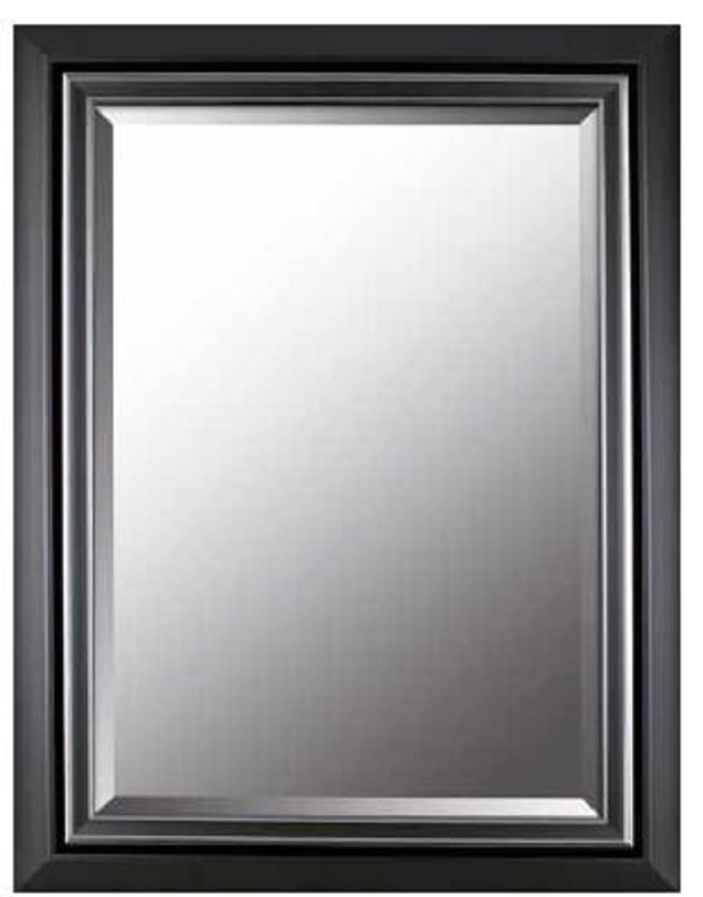 Rectangle Plastic Beveled Wall Mirrors Intended For Well Known Amazon: Mirrorize Canada Gray Silver Plastic Bevelled Industrial (View 11 of 20)