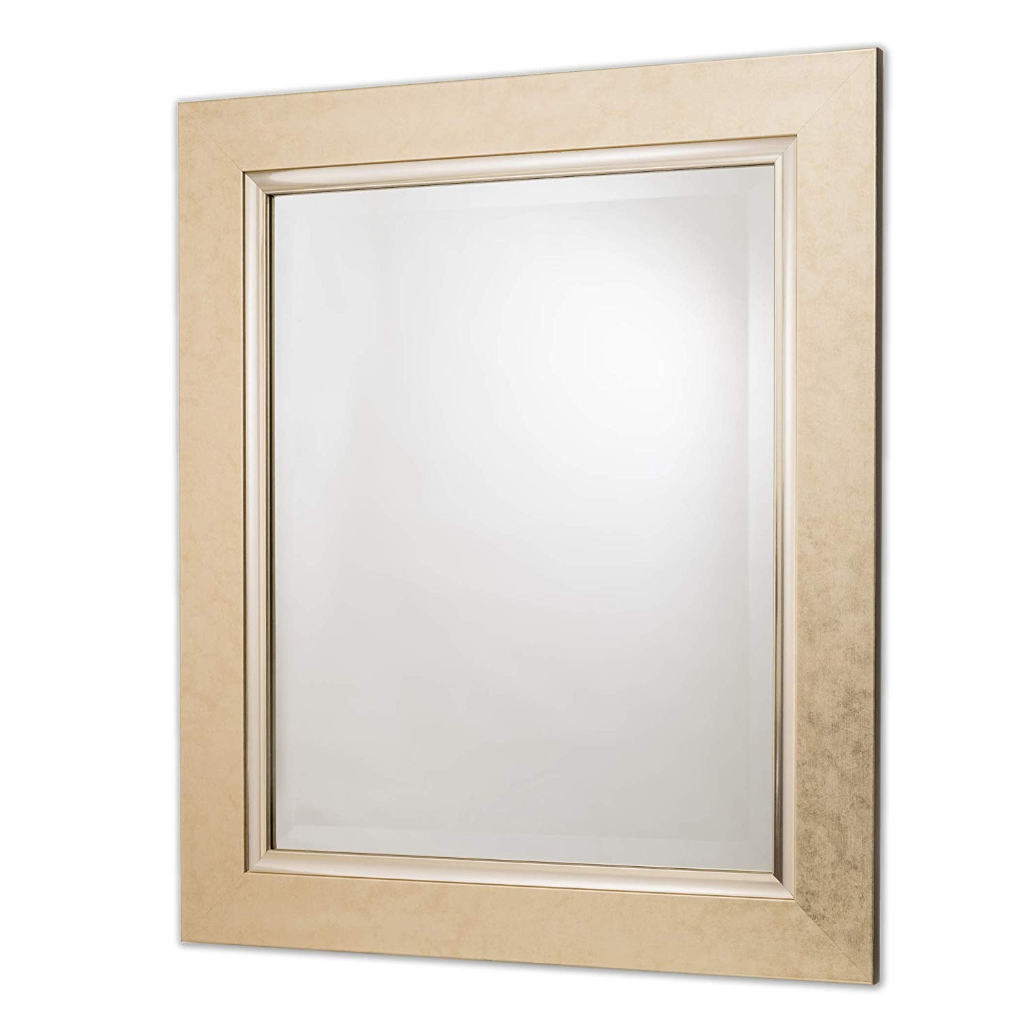 "Rectangle Plastic Beveled Wall Mirrors With Regard To 2019 Wall Mirror Decorative Vanity – Bathroom Rectangular Vintage Gold Beveled Frame 22""x28"" (View 6 of 20)"