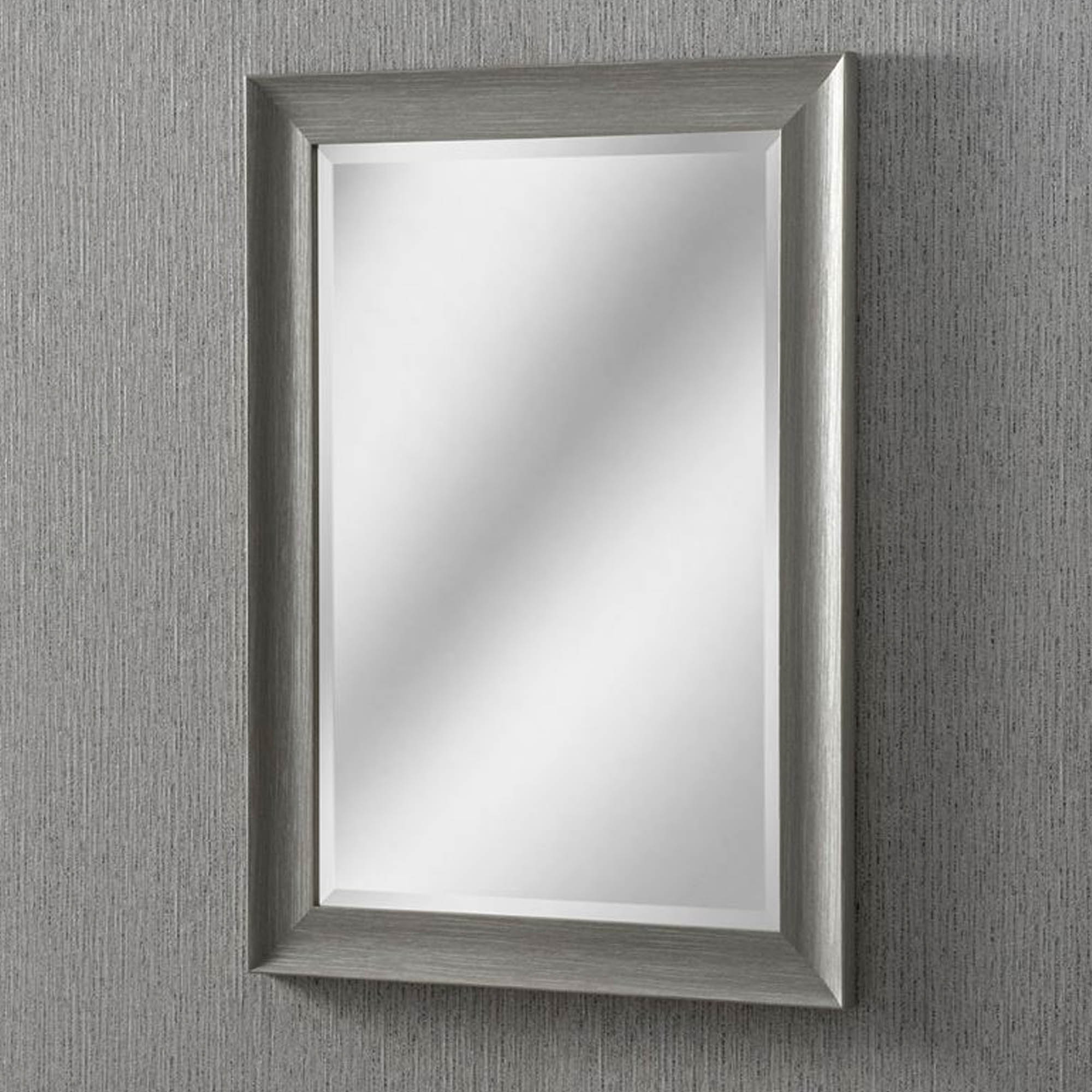 Rectangular Grey Modern & Contemporary Wall Mirror With Regard To Current Modern Rectangle Wall Mirrors (View 18 of 20)