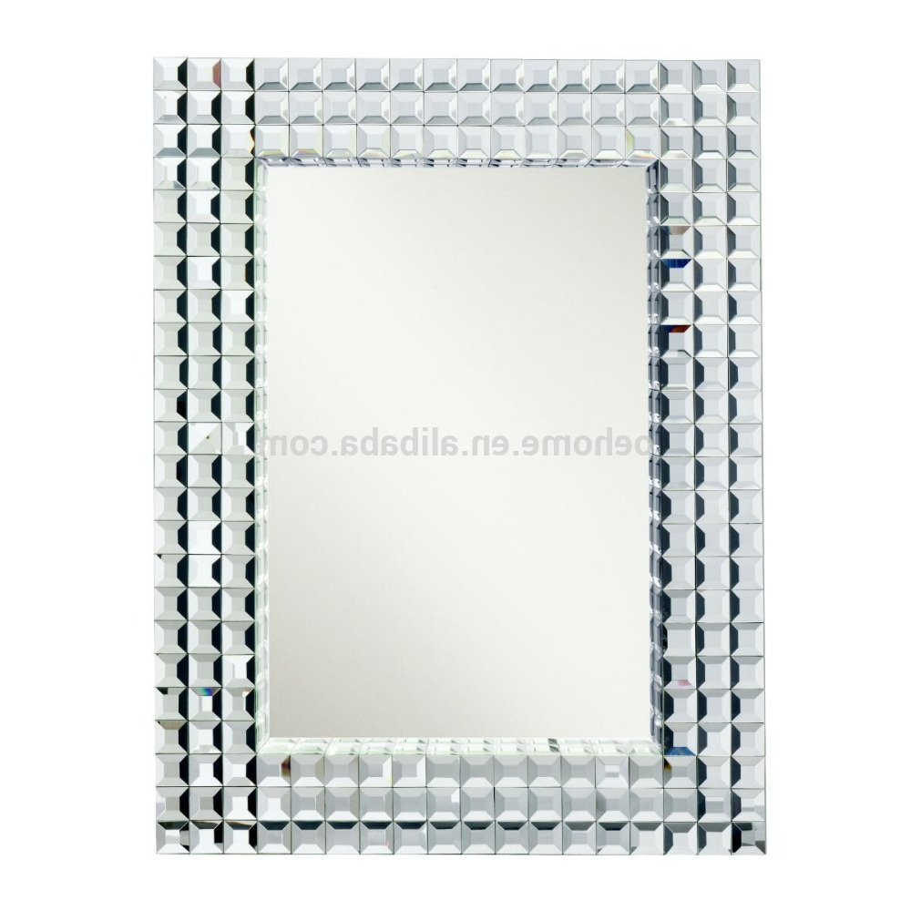 Rectangular Wall Mirrors Inside Well Liked Bling Rectangular Wall Mirror – Buy Bling Rectangular Wall Mirror,salon Wall Mirrors,3d Mirror Wall Mirror Product On Alibaba (View 16 of 20)