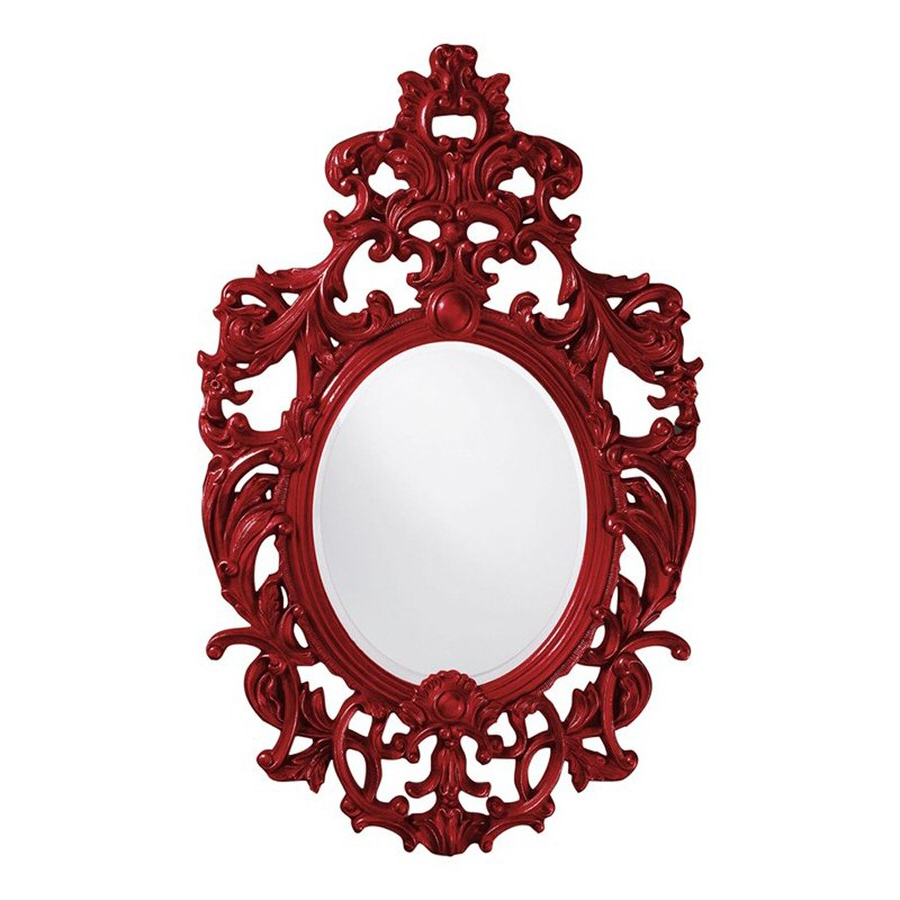 Red Framed Wall Mirrors Pertaining To Well Liked Tyler Dillon Dorsiere 51 In L X 31 In W Red Framed Oval Wall (View 11 of 20)