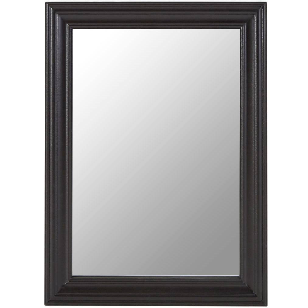 Regatta Black Wooden Framed Wall Mirror Throughout Most Current Black Framed Wall Mirrors (View 7 of 20)