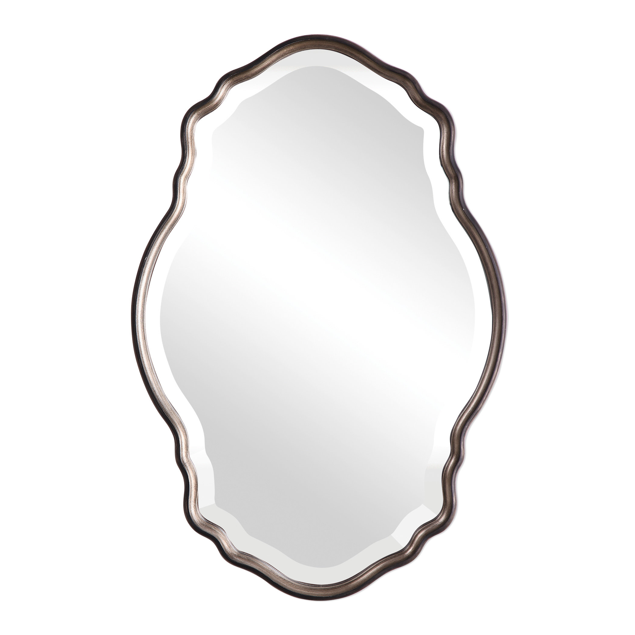 Reign Frameless Oval Scalloped Beveled Wall Mirrors Throughout Favorite Christner Modern & Contemporary Beveled Wall Mirror (View 19 of 20)