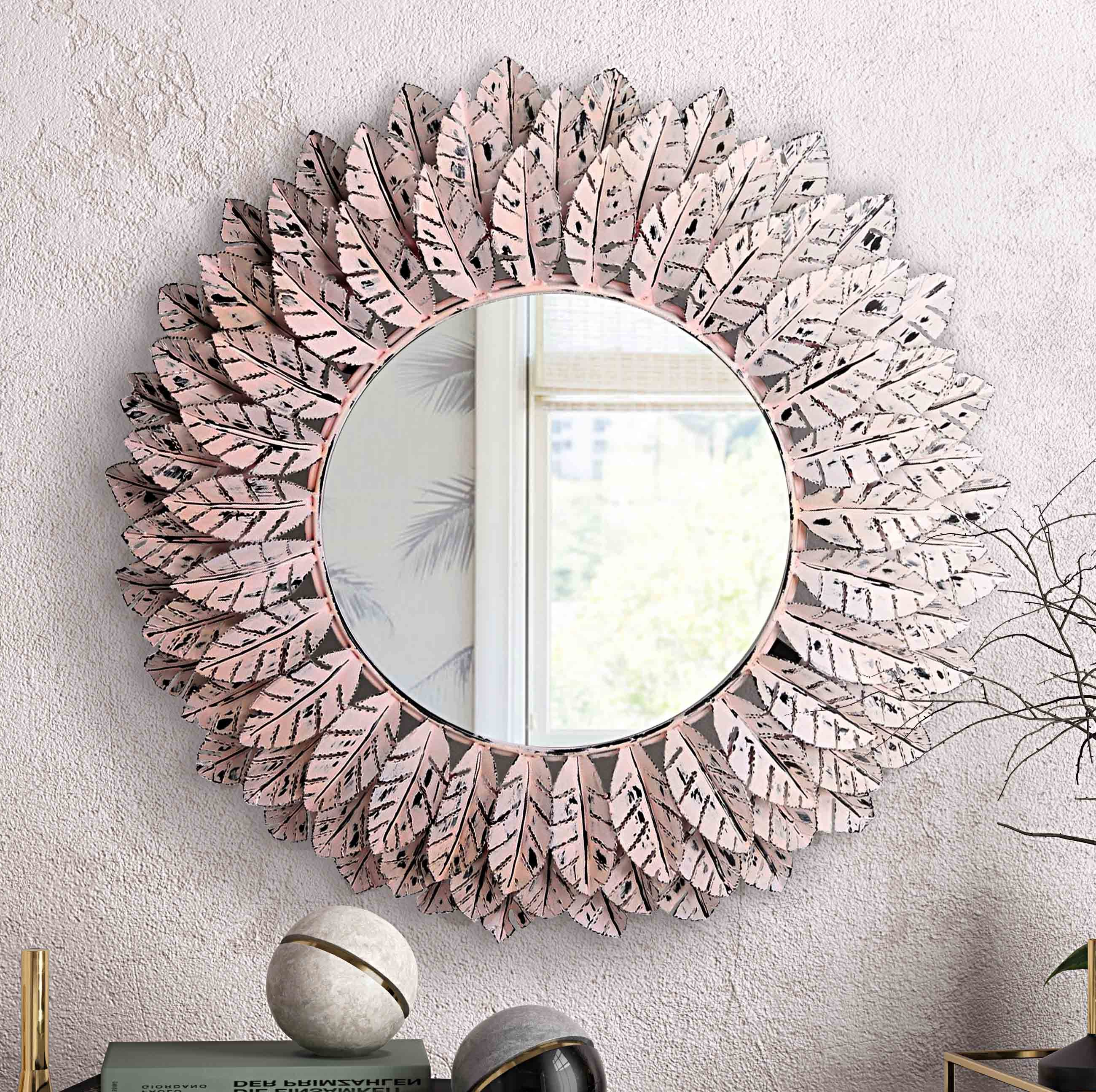 Reign Pile Accent Mirror For 2019 Cromartie Tree Branch Wall Mirrors (View 11 of 20)