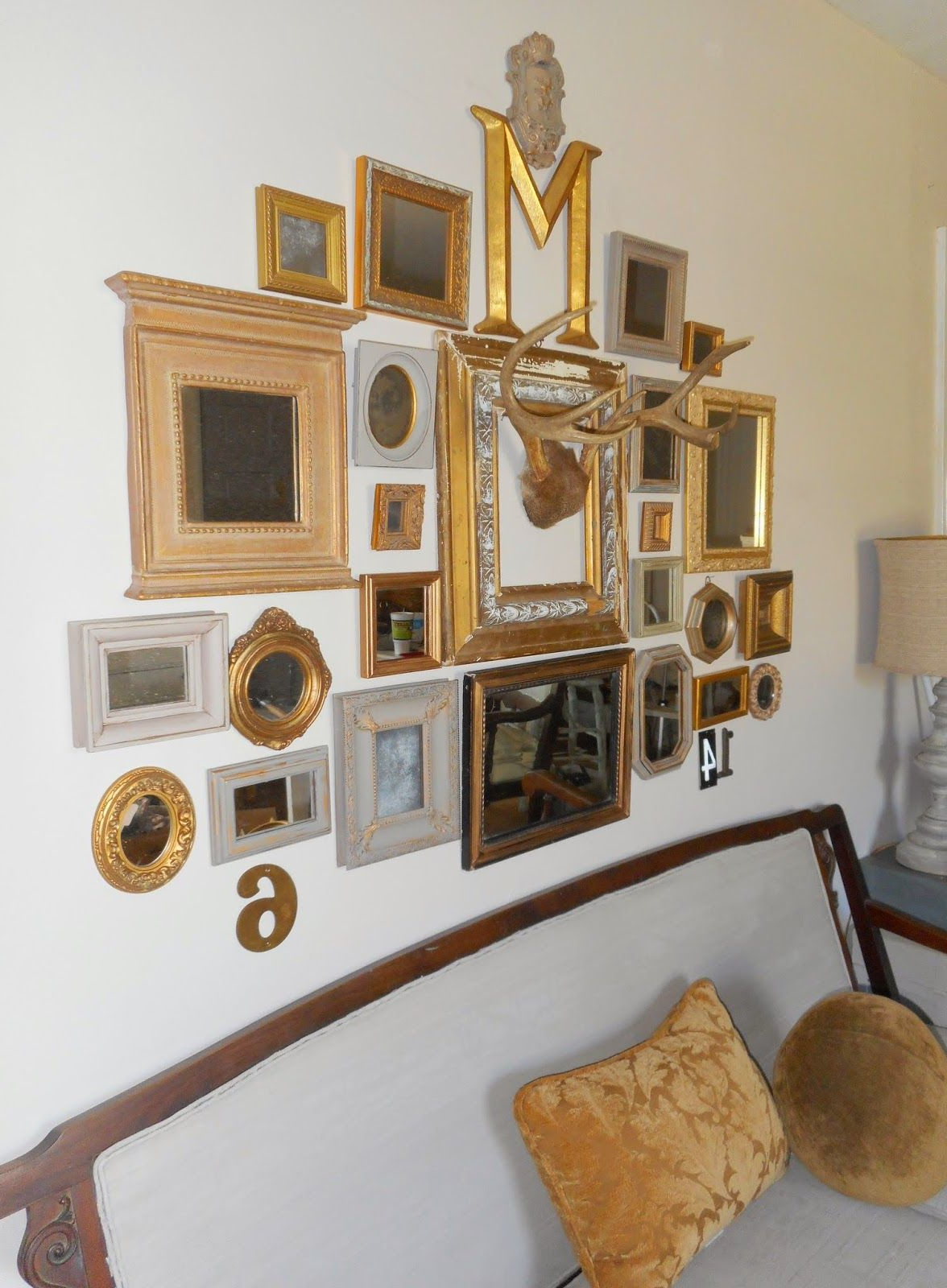 Revisionary Life – Gallery Wall Using Gilded Mirrors With Industrial Intended For Popular Gallery Wall Mirrors (View 18 of 20)