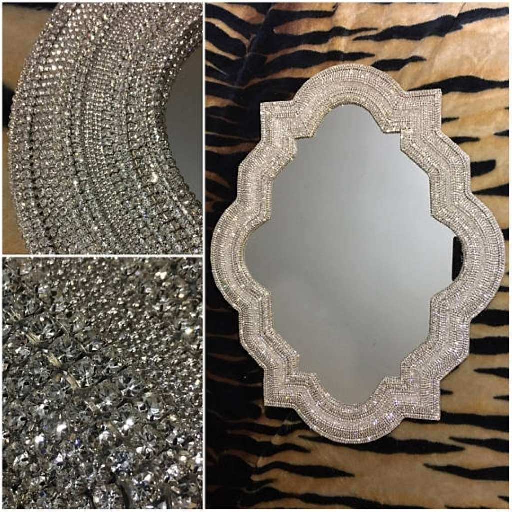 Rhinestone Wall Mirrors Intended For Famous Gallery Rhinestone Wall Mirror Of Brilliant Expensive Mirrors (Gallery 19 of 20)