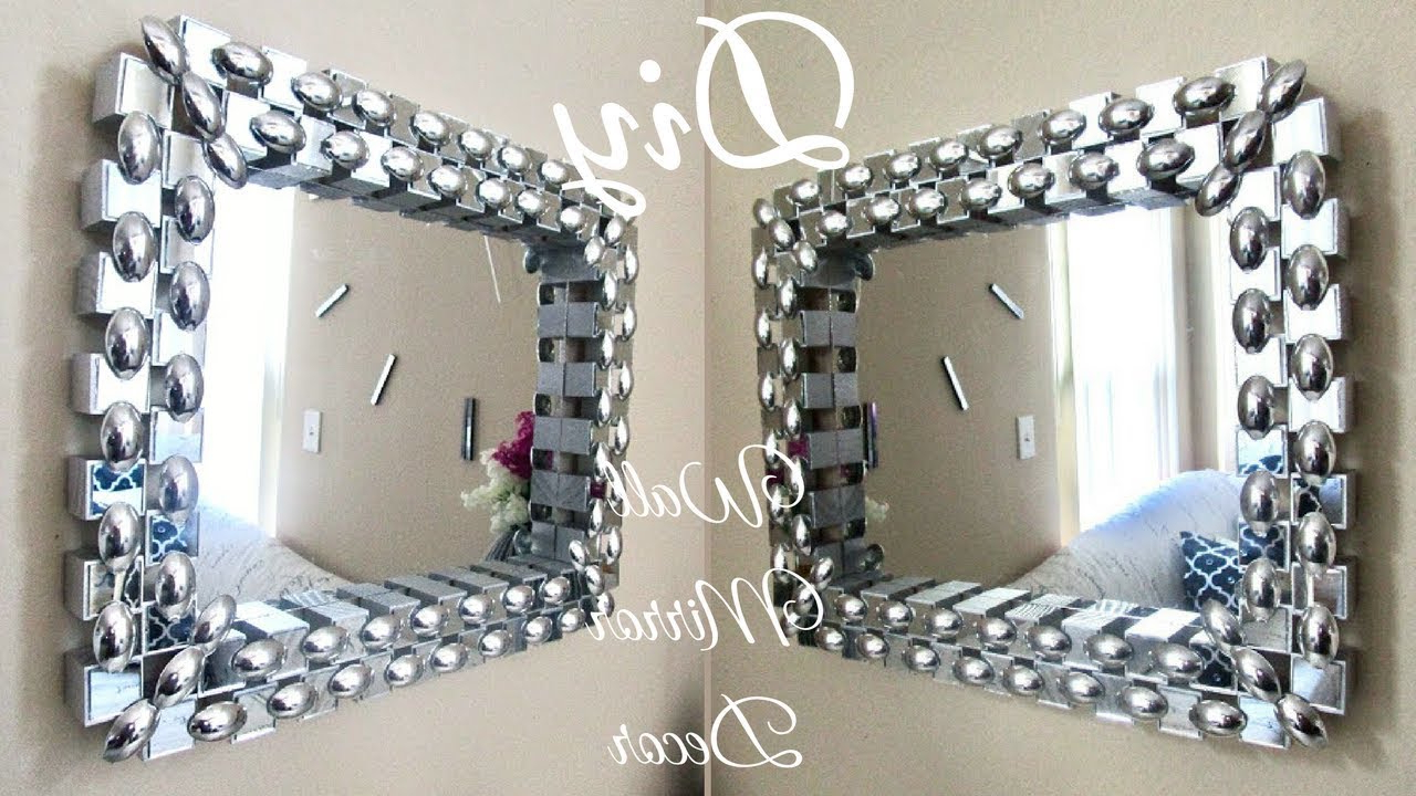 Rhinestone Wall Mirrors With Regard To 2019 Diy Unique Dollar Tree Wall Mirror Decor With Depth And Contrast! (Gallery 18 of 20)