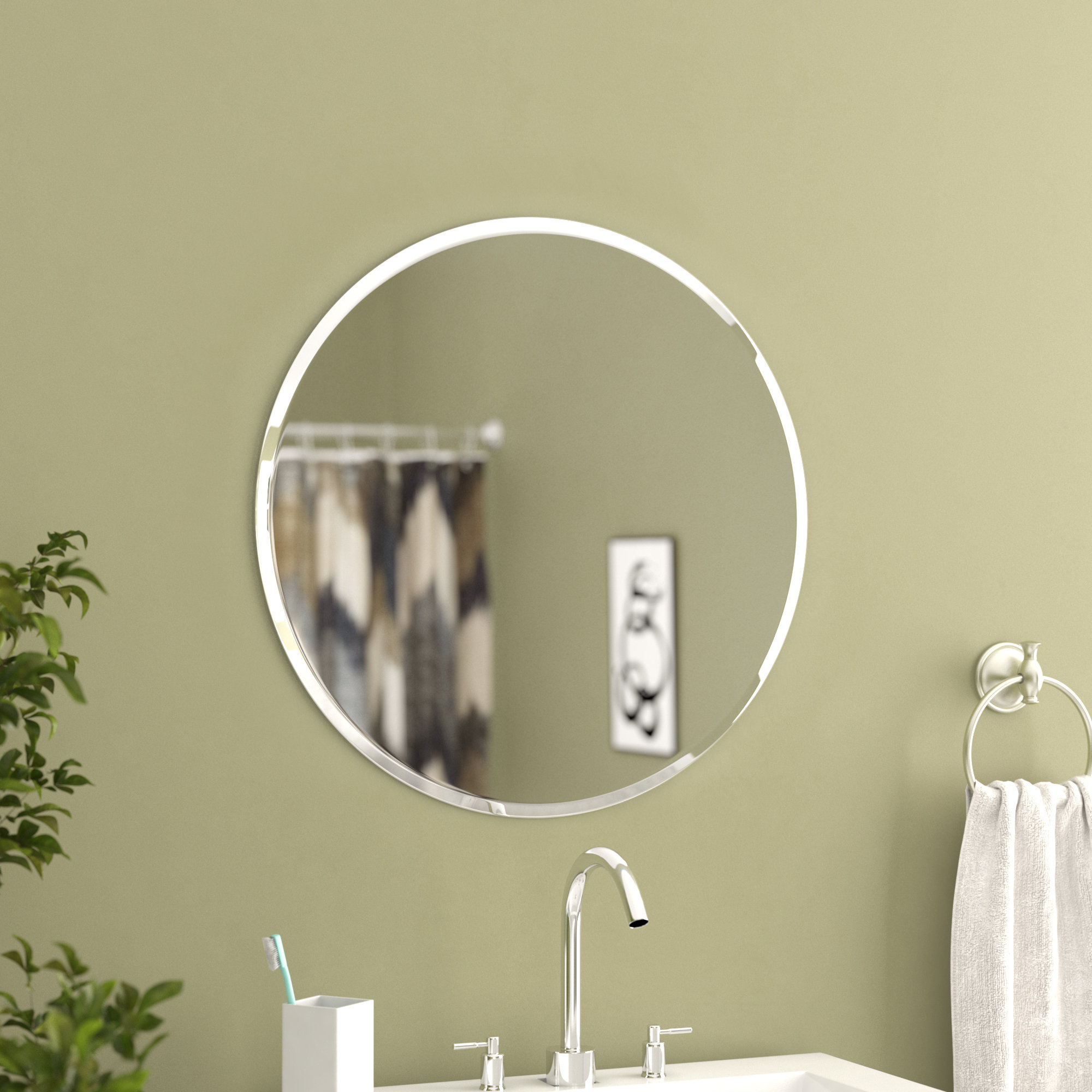Rollins Frameless Wall Mirror In Well Known Gaunts Earthcott Wall Mirrors (View 17 of 20)