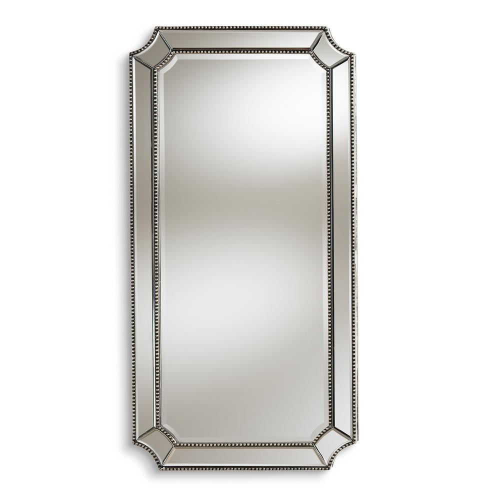 Romina Antique Silver Wall Mirror For Recent Large Beveled Wall Mirrors (View 16 of 20)