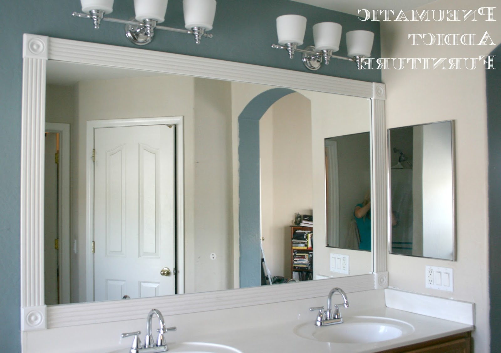Rosette Wall Mirrors Pertaining To Famous Tip For Adding Trim To A Wall Mirror { And $100 Giveaway Winner (Gallery 10 of 20)