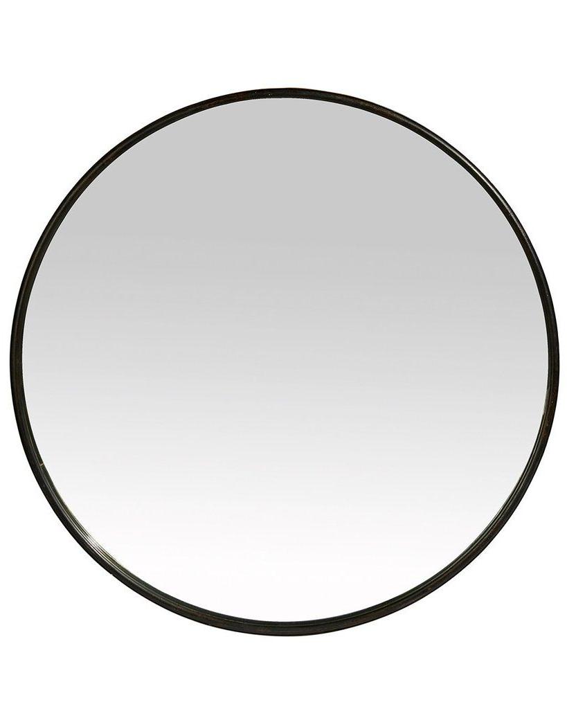 Round Black Wall Mirrors Regarding 2019 Boudoir – Black Round Mirror (metal Frame, Dia: 60cm) (View 3 of 20)