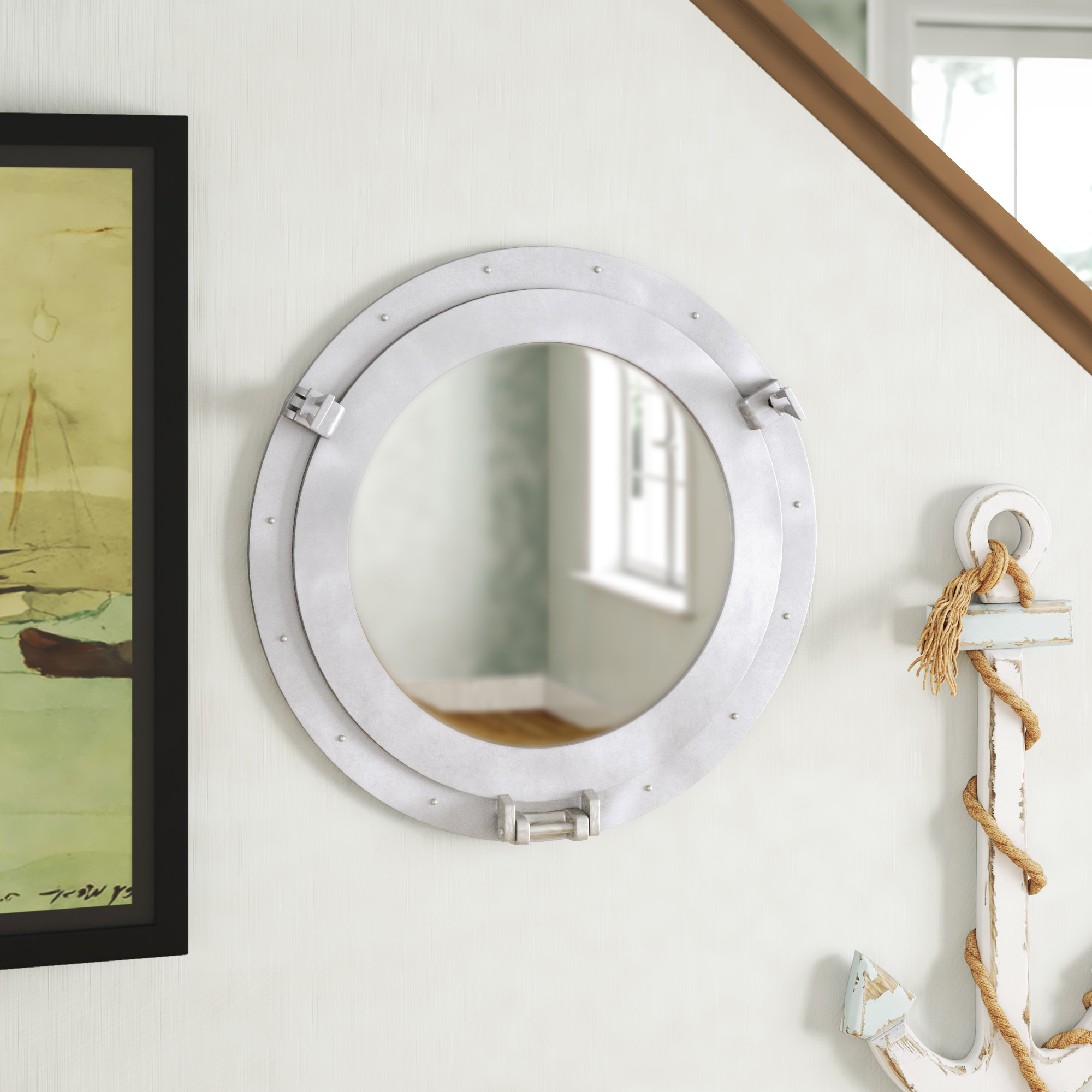 Round Decorative Bronze Ship Porthole Mirror Pertaining To Well Known Porthole Wall Mirrors (Gallery 8 of 20)
