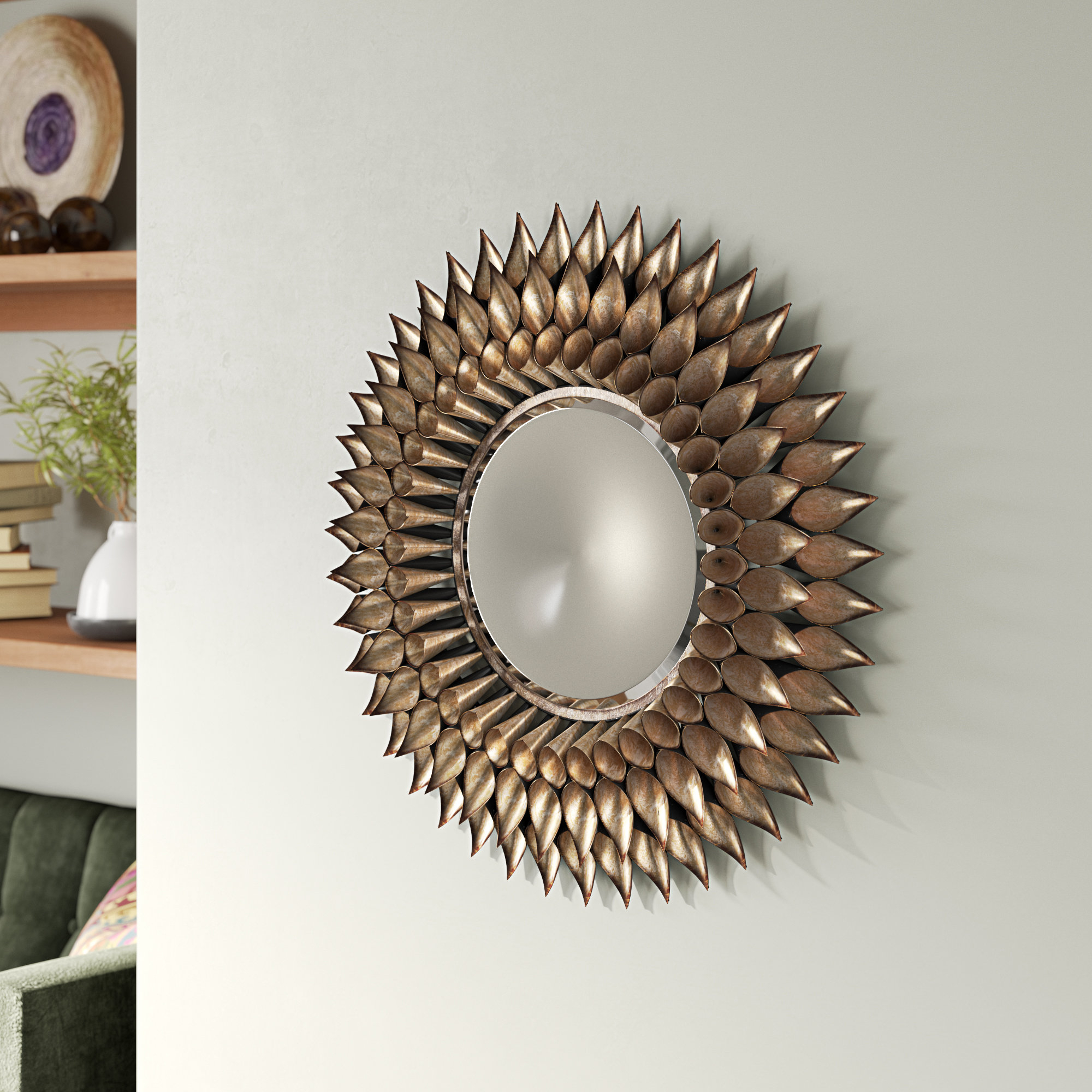 Round Galvanized Metallic Wall Mirrors In Fashionable Round Galvanized And Weathered Silver Decorative Wall Mirror (Gallery 13 of 20)