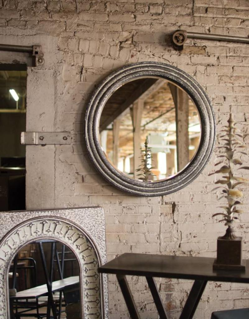 Round Metal Wall Mirror Regarding 2019 Round Metal Wall Mirrors (View 18 of 20)