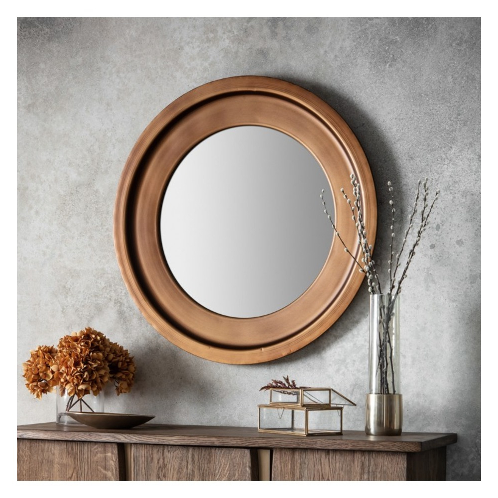 Round Metal Wall Mirrors With Most Popular Moorley Round Wall Mirror (Gallery 14 of 20)