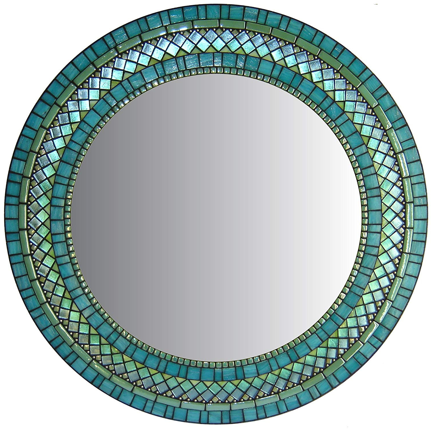 Round Mosaic Wall Mirrors Intended For Most Up To Date Amazon: Round Mosaic Wall Mirror (View 15 of 20)