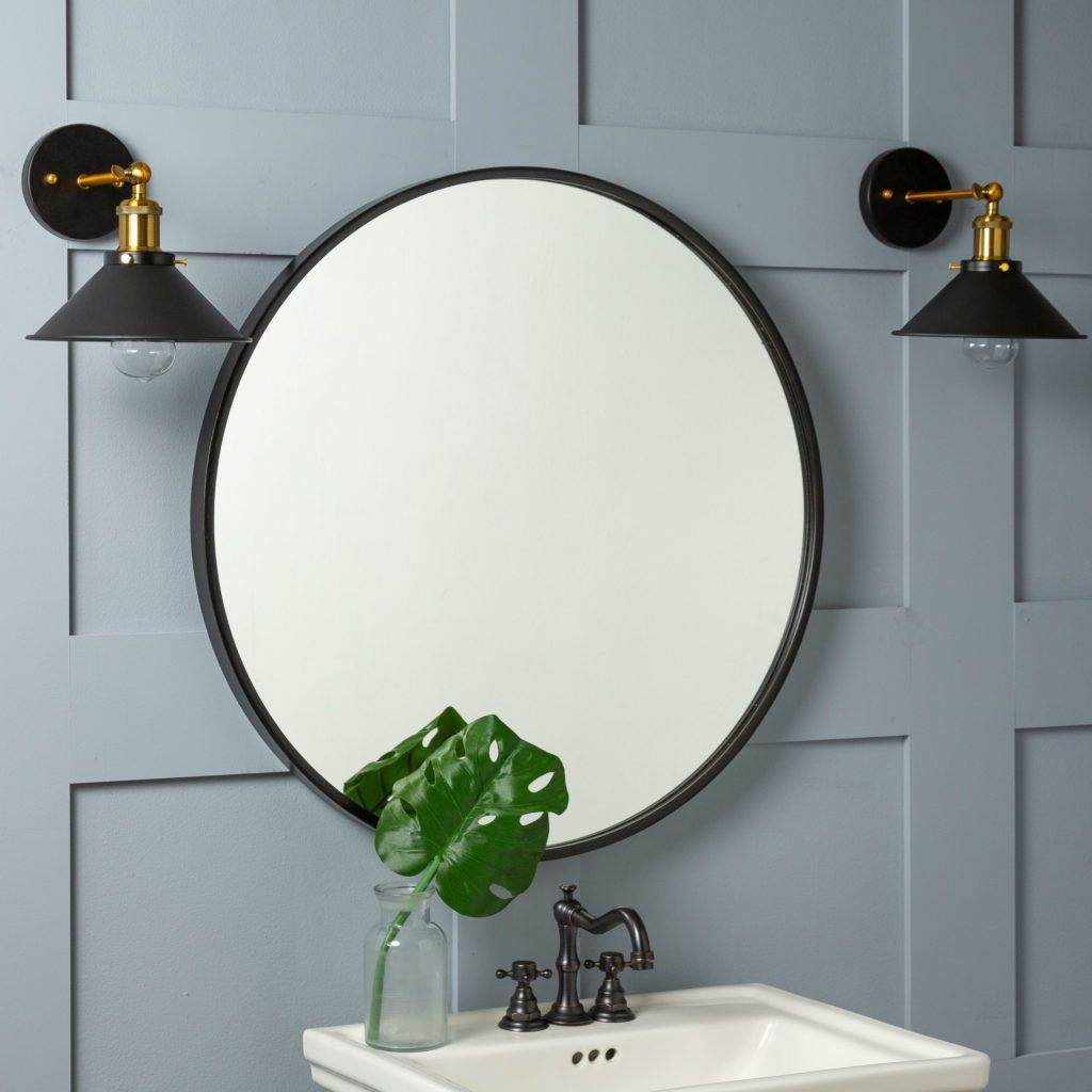 Round Wall Mirror, Mirror Regarding Best And Newest Luna Accent Mirrors (Gallery 2 of 20)