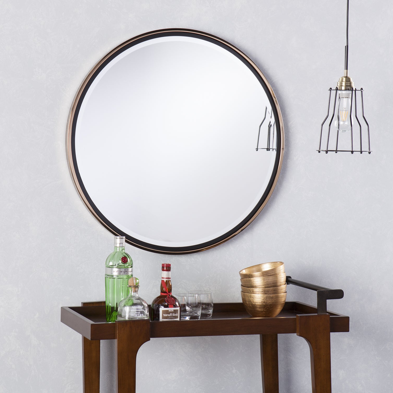 Round Wall Mirrors For Well Known Holly & Martin Wais Round Wall Mirror – Champagne Gold (View 15 of 20)