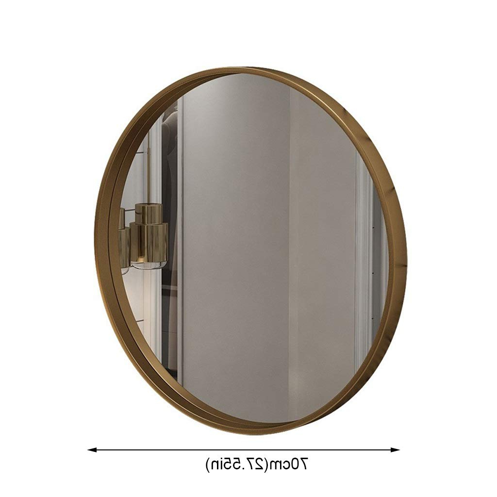 Round Wall Mounted Mirror, Large Modern Round Metal Framed Inside Fashionable Modern Round Wall Mirrors (Gallery 12 of 20)